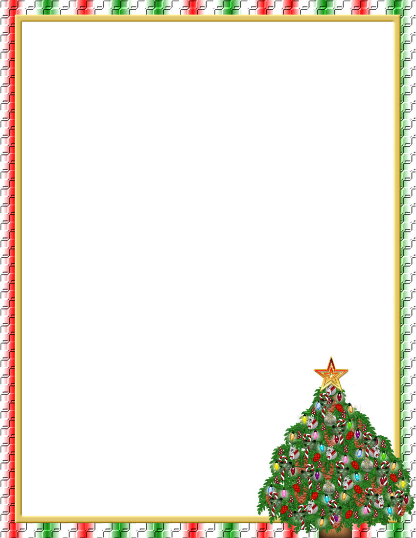 Christmas Letter Border Template - Christmas Border Template