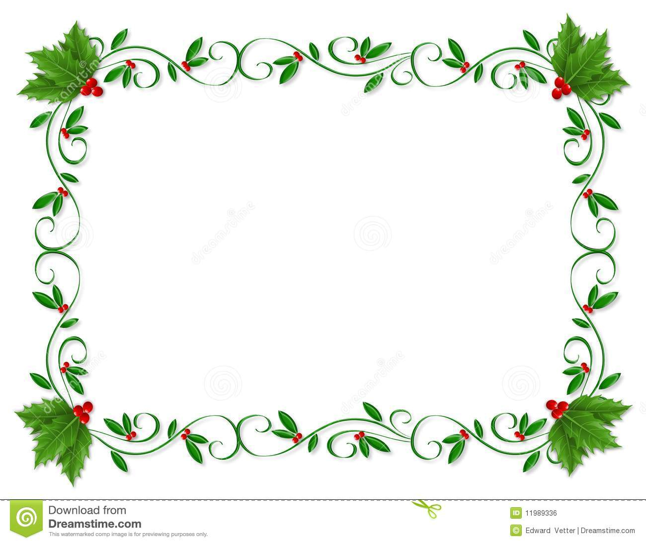 Christmas Letter Border Template - Christmas Borders for Powerpoint Acurnamedia