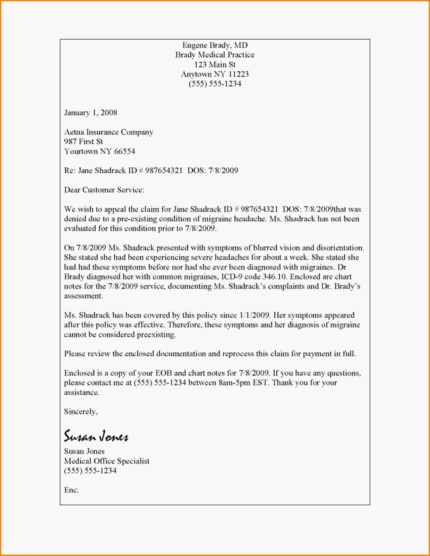 Insurance Referral Letter Template - Collection Of solutions Reference Letter Sample for Medical Doctor