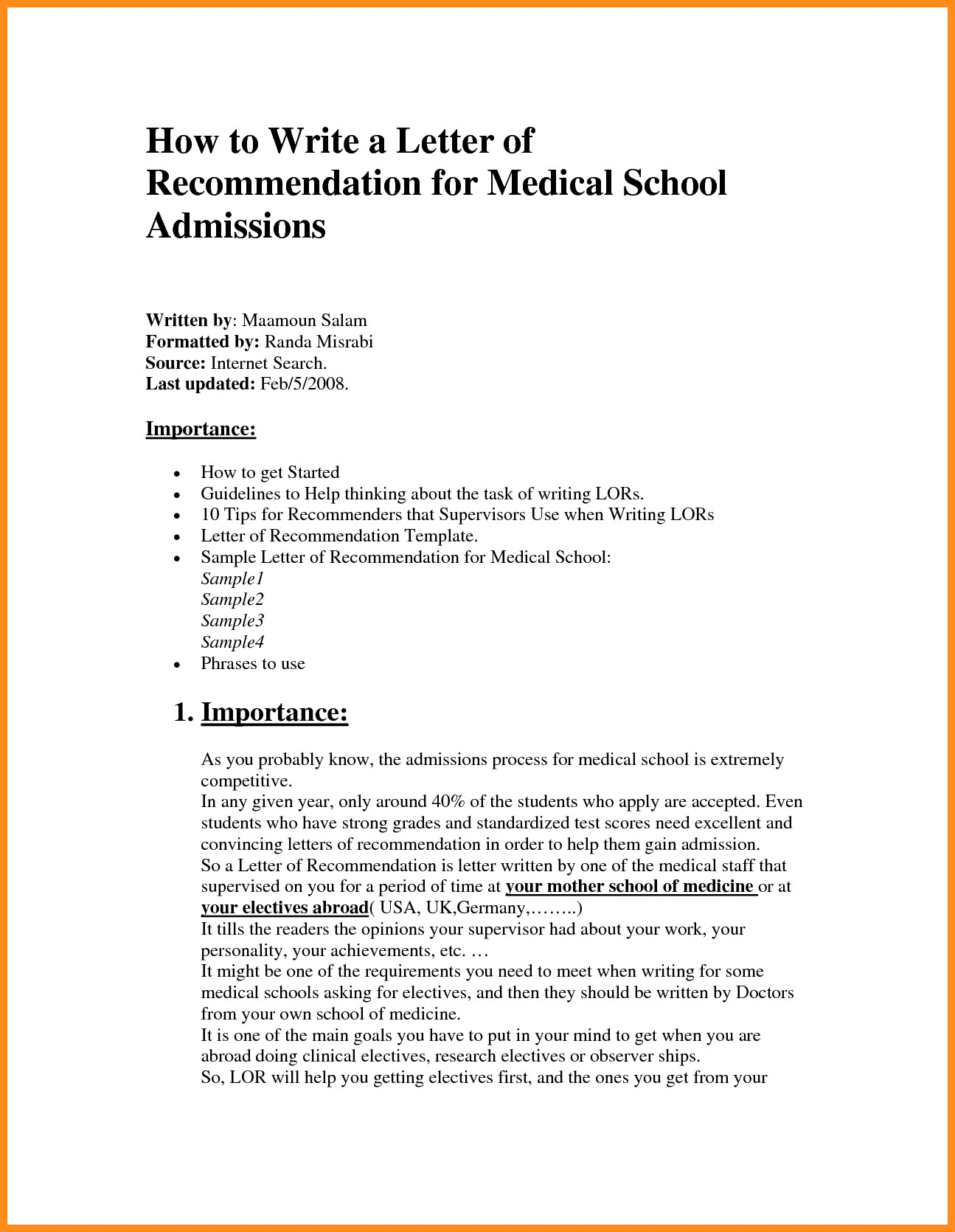 Medical School Letter Of Recommendation Template - Collection Of solutions Reference Letter Sample for Medical Doctor