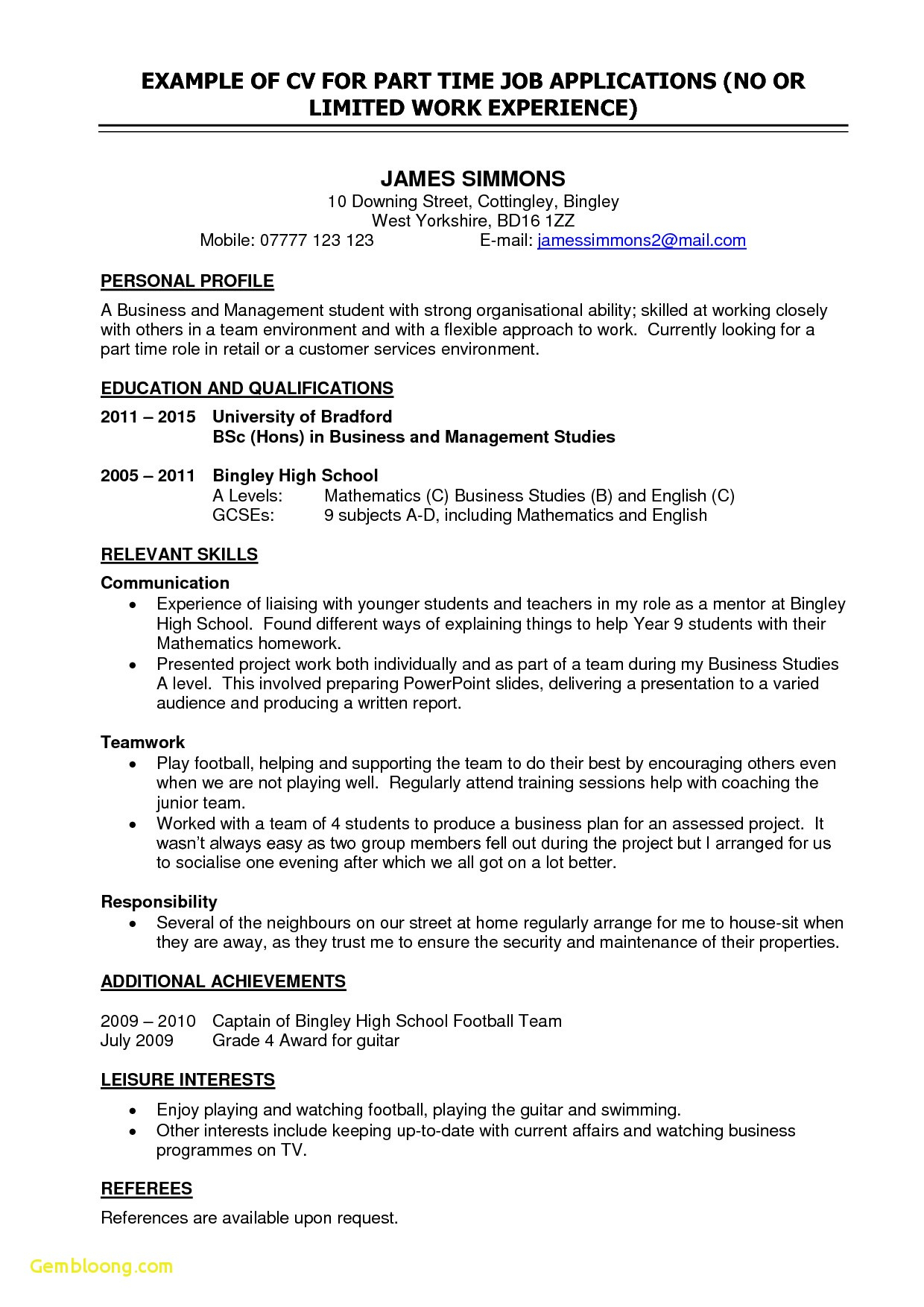 Part Time Job Offer Letter Template - College Resume Templates Resume Outline Examples Unique Od