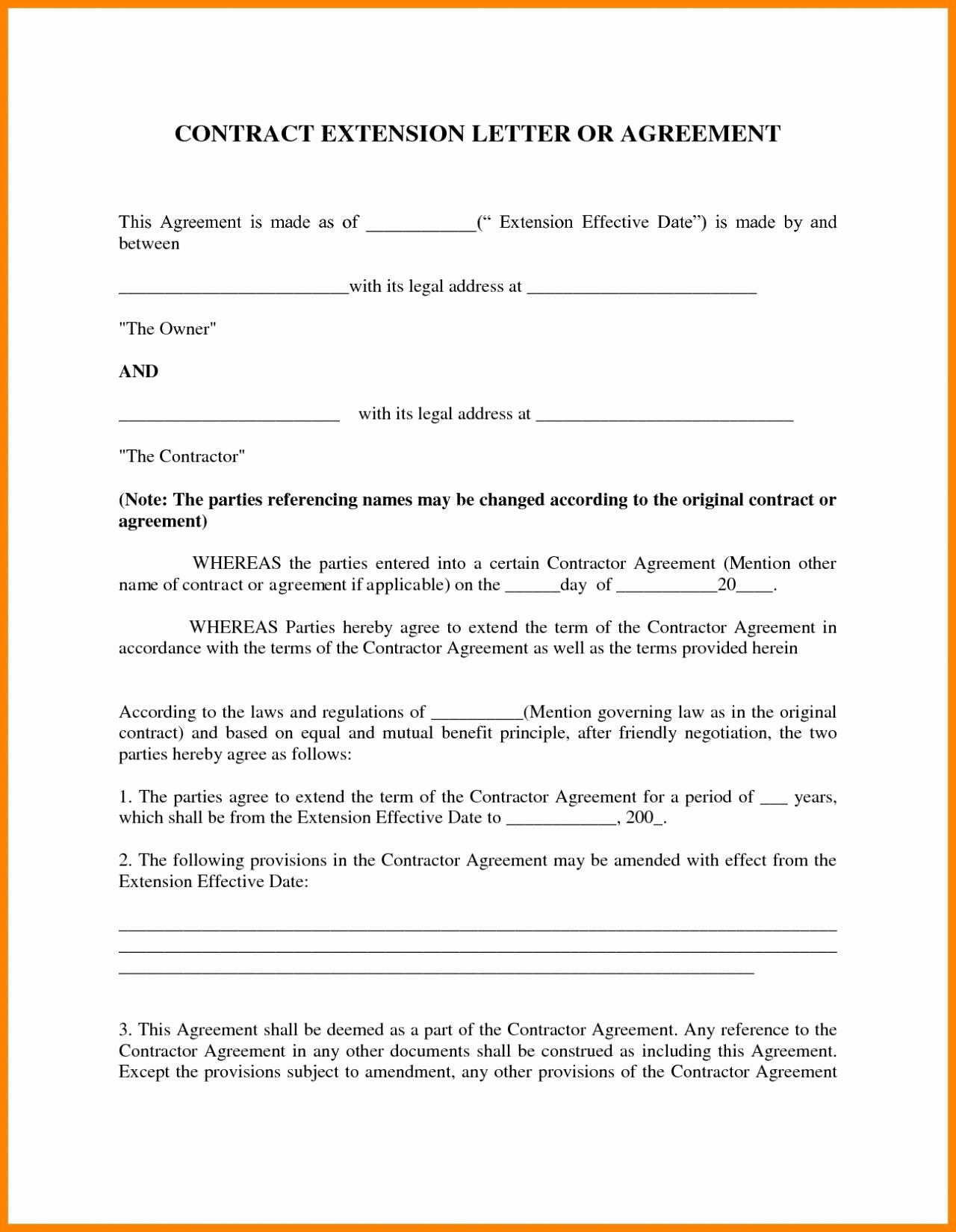 contract amendment letter template example-Contract Agreement Letter New Free Parent Child Contract Templates Best Sample Child Support 4-r
