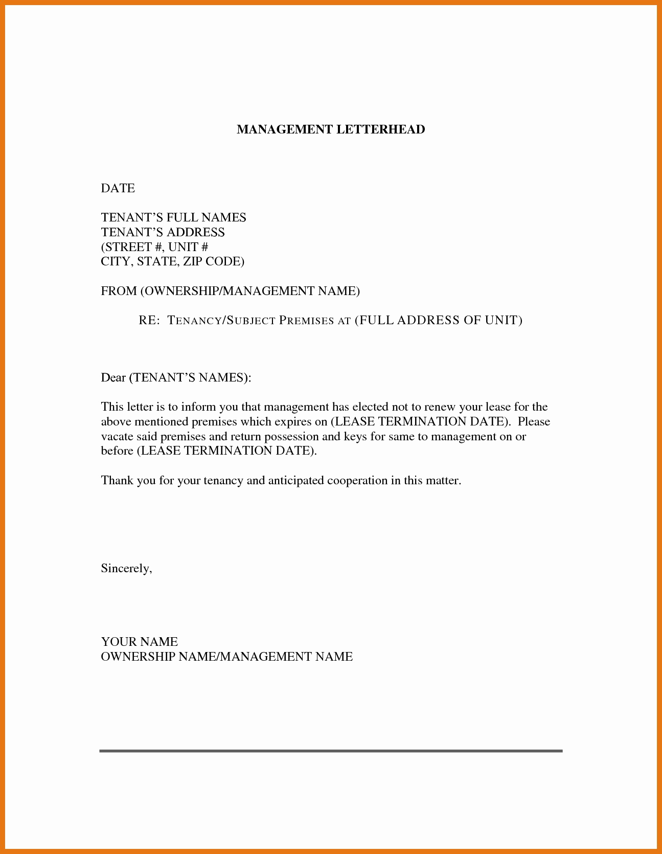 Lease Renewal Reminder Letter Template - Contract Renewal Letter Template Fresh Renewal Letter Sample Best