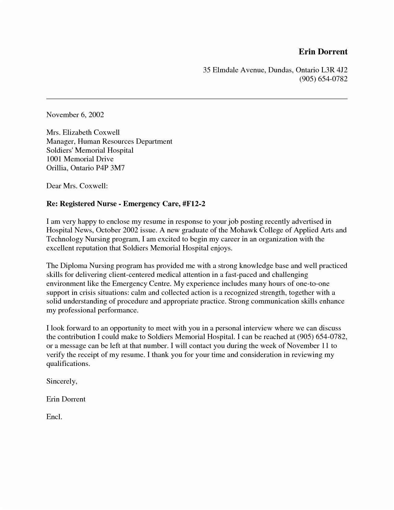 Nursing Cover Letter Template - Cover Letter Examples for Nurses Nursing Cover Letter New Grad