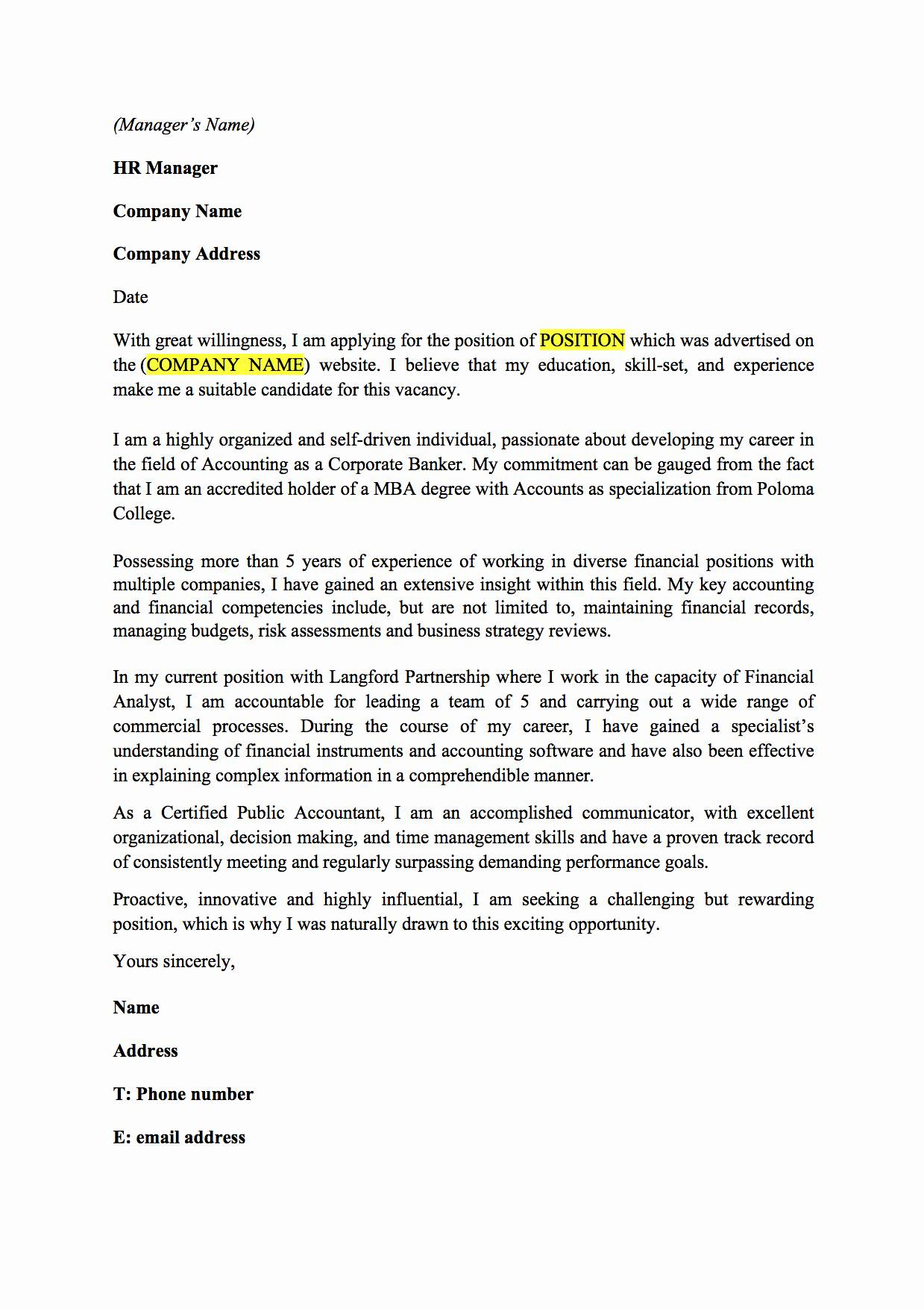 Cpa Letter for Self Employed Template - Cover Letter for Junior Accountant Best Hth Goldenear Voice