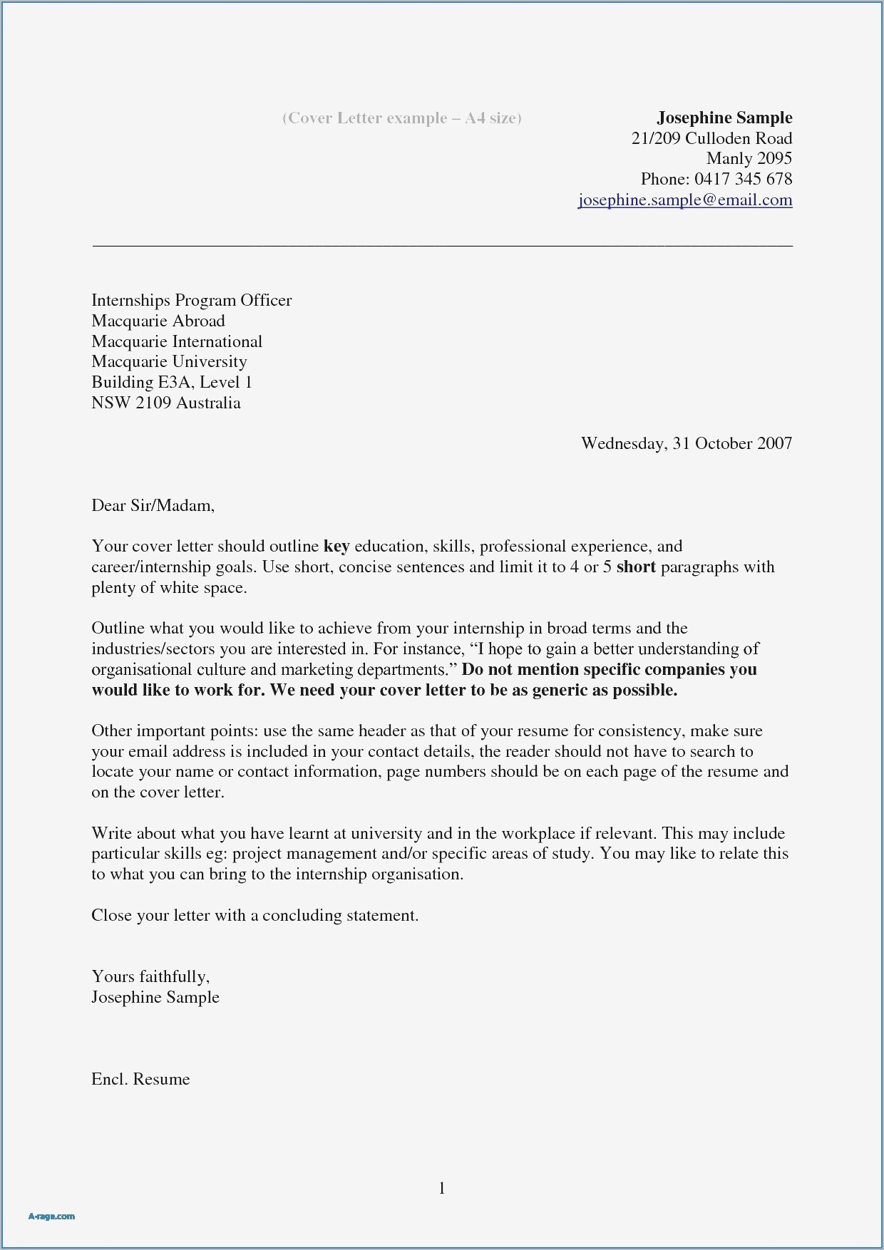 Cover Letter Template Australia - Cover Letter for Pany Not Hiring