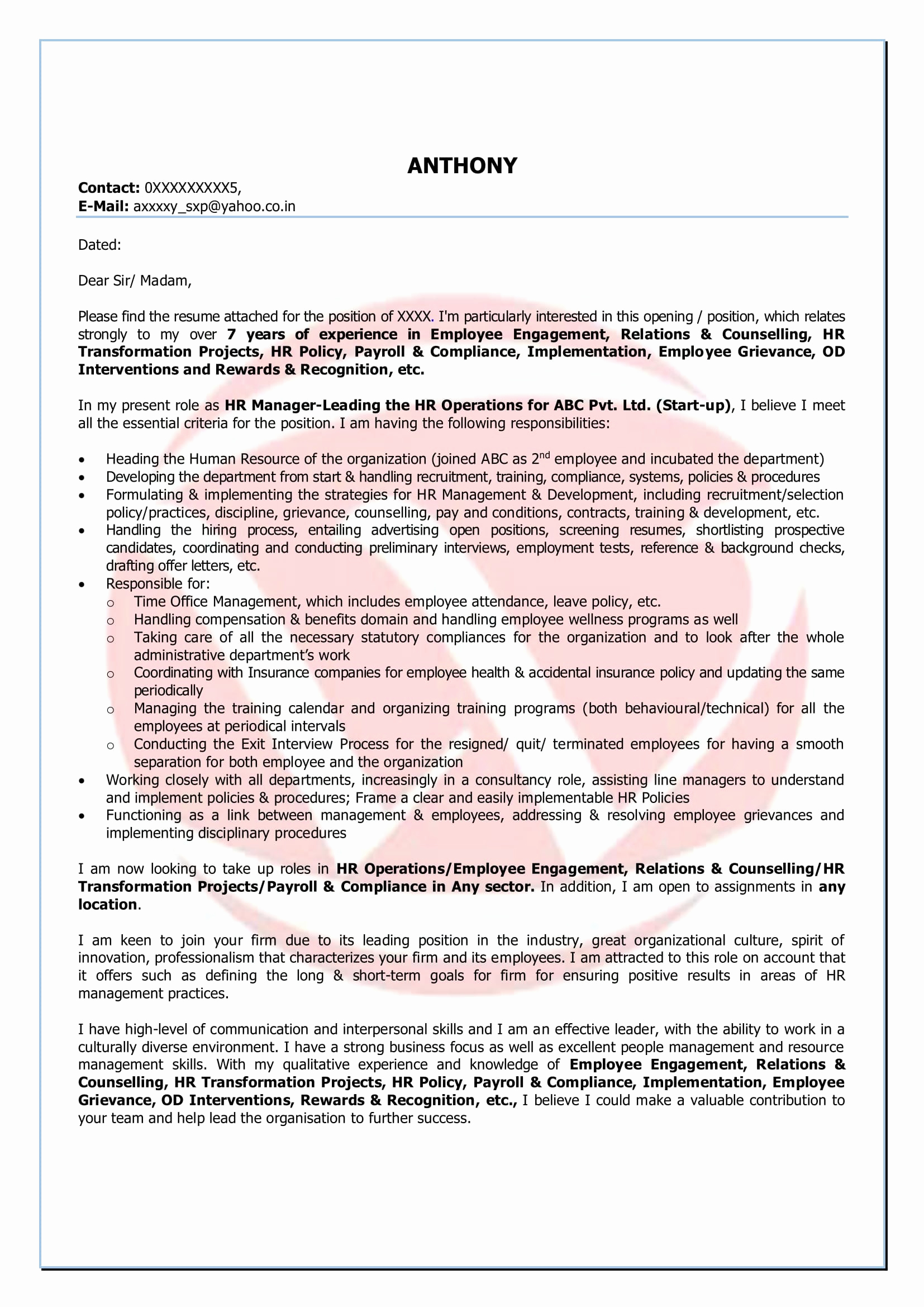 Cover Letter Template Retail Manager - Cover Letter Retail Manager Elegant How to Write A Covering Letter