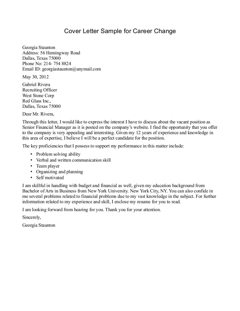 Change Of Leadership Letter Template - Cover Letter Sample Career Change Best Cover Letter Template Career