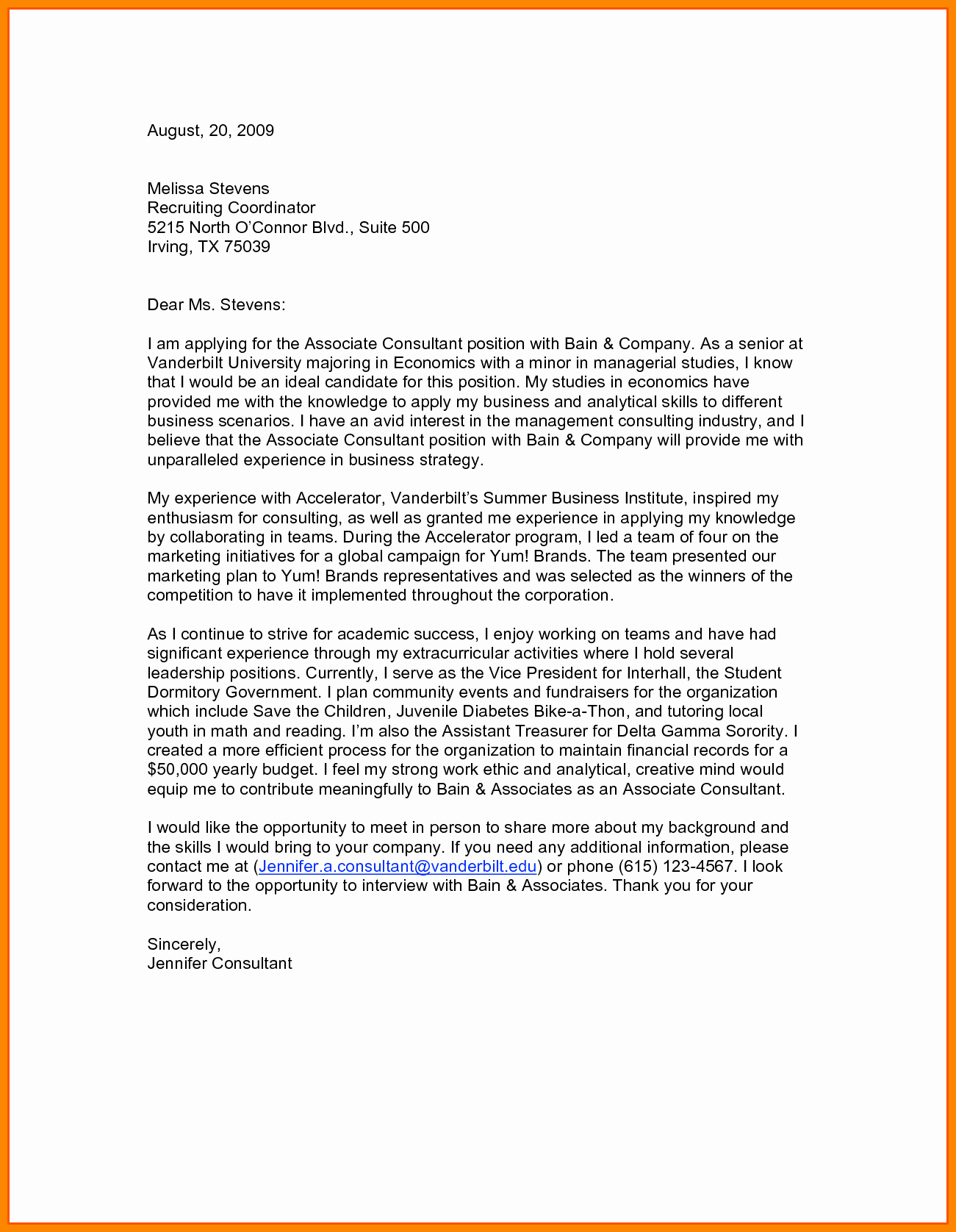 Free Modern Cover Letter Template - Cover Letters for Resumes Free Fresh Od Consultant Cover Letter