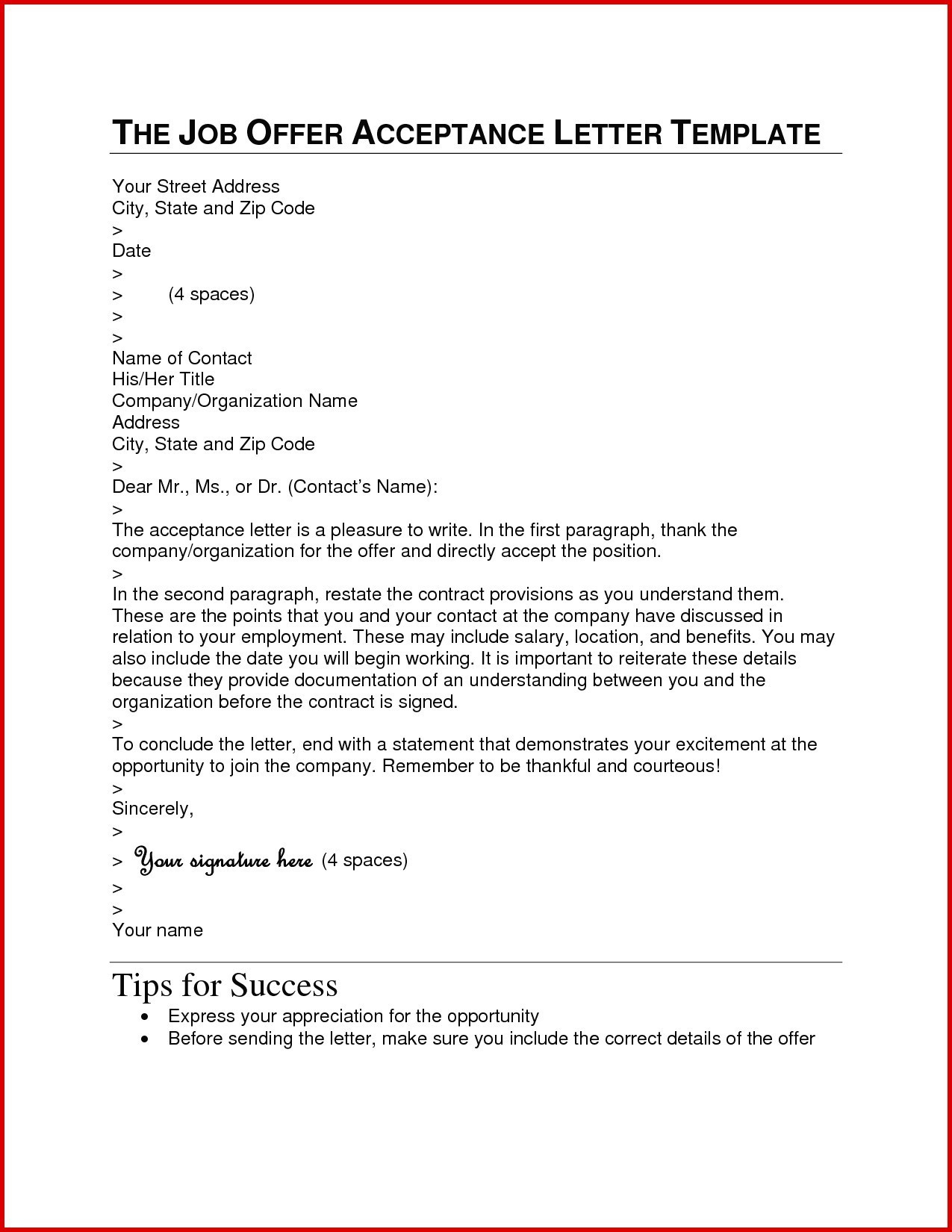 Job Offer Acceptance Letter Template - Cpt Job Fer Letter Sample Fresh Sample Resignation Letter Template