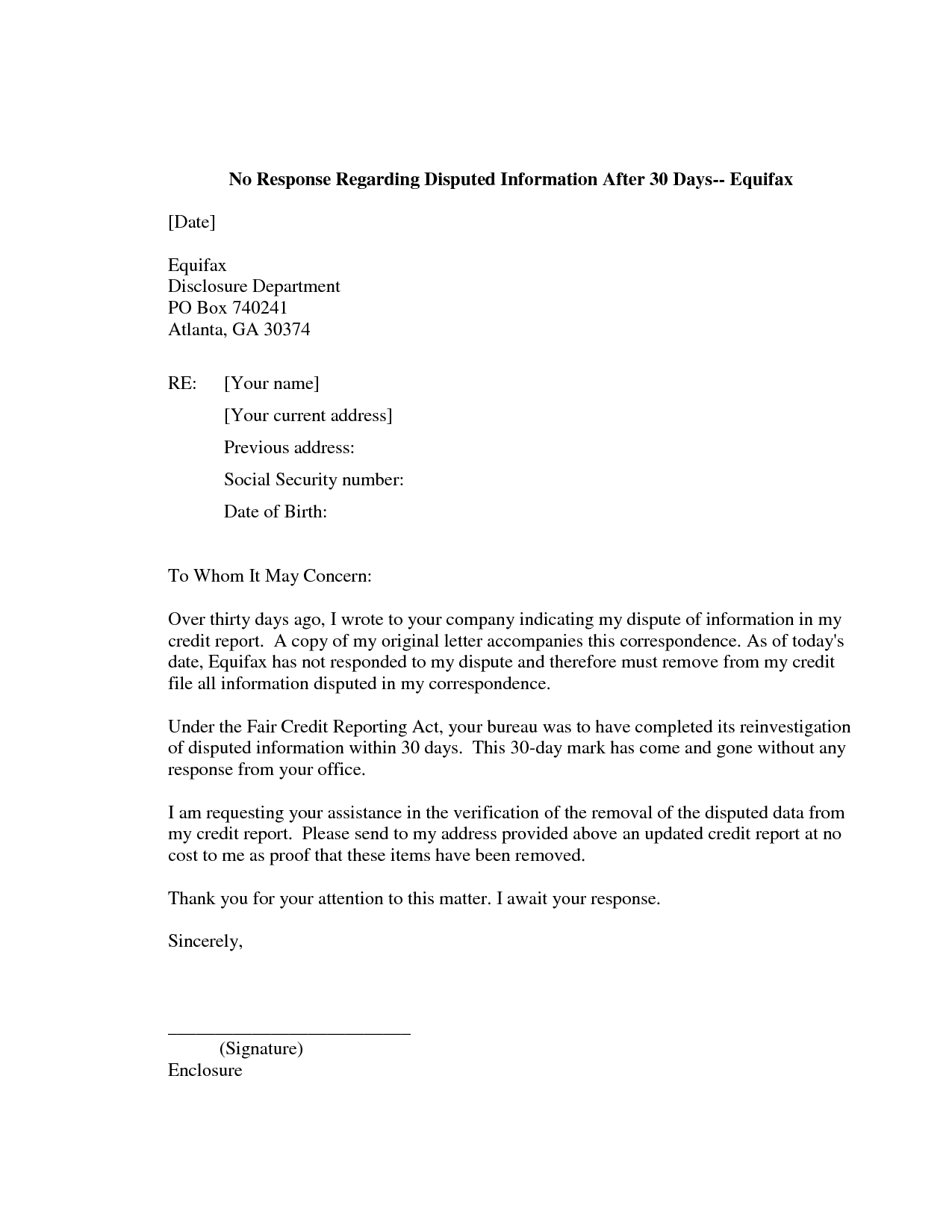 Repossession Dispute Letter Template Collection | Letter Templates
