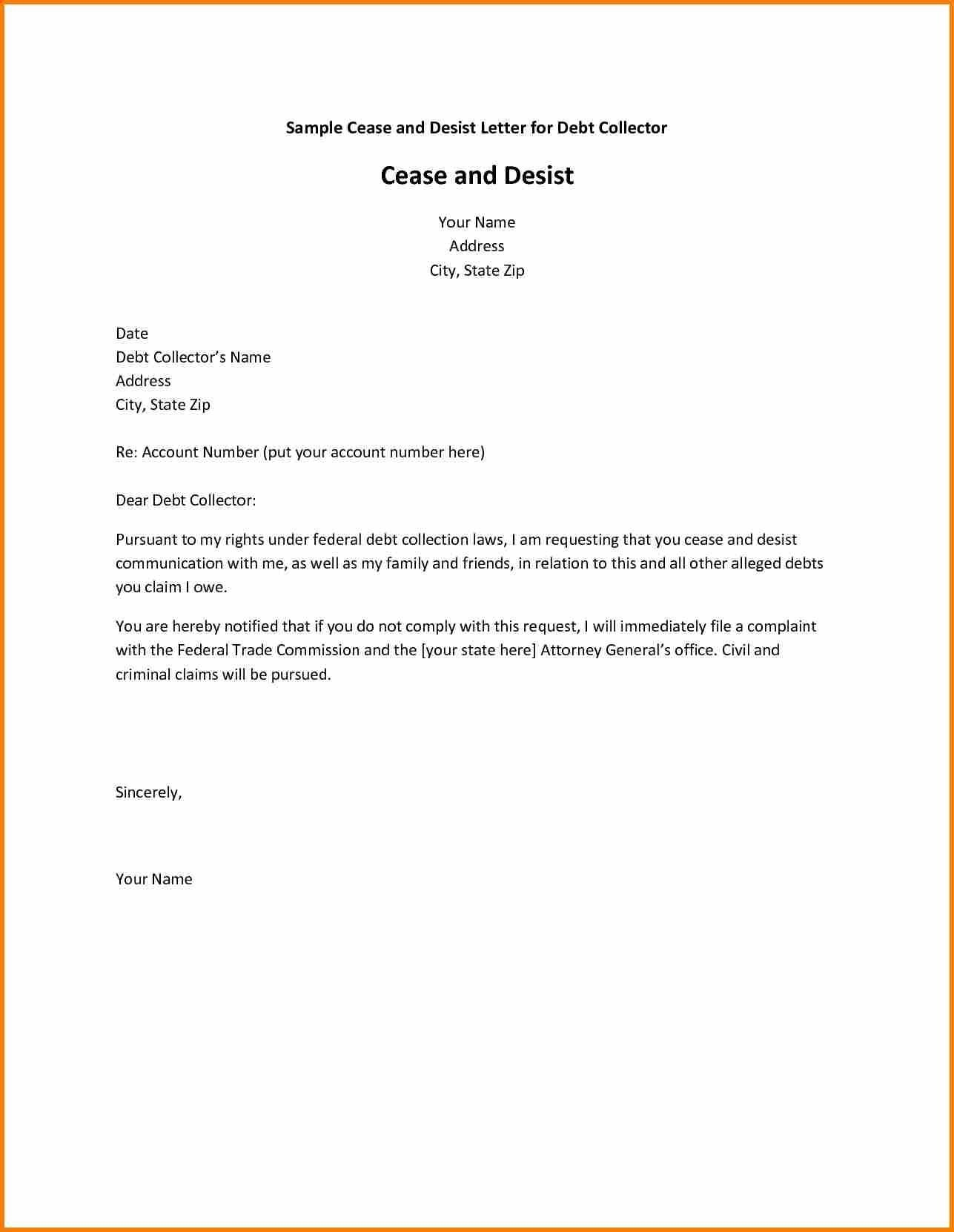 creditor cease and desist letter template Collection-Debt Collection Cease and Desist Letter Template Copy Jury Duty Excuse Letter Refrence Cease and Desist 18-h