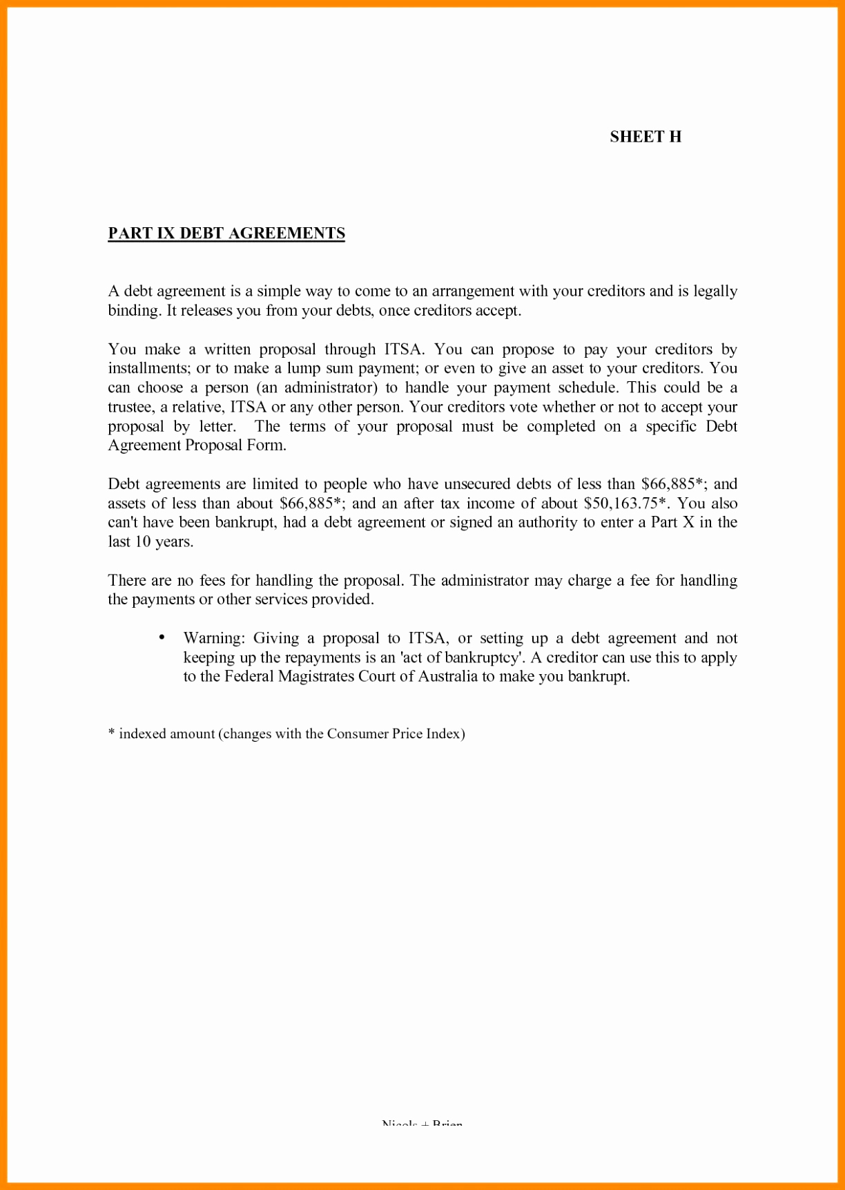 Debt Settlement Agreement Letter Template Collection Letter Templates