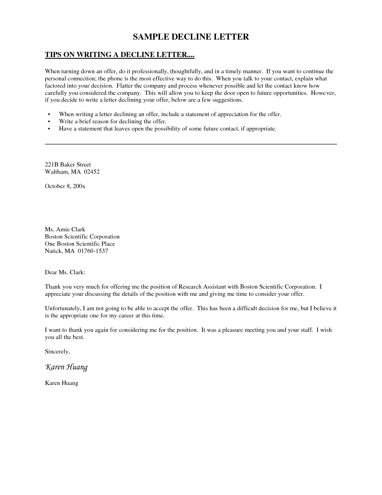 board member invitation letter template example-Decline Invitation Letter This letter template declines an invitation to serve on an organization s board of directors due to other mitments 6-l