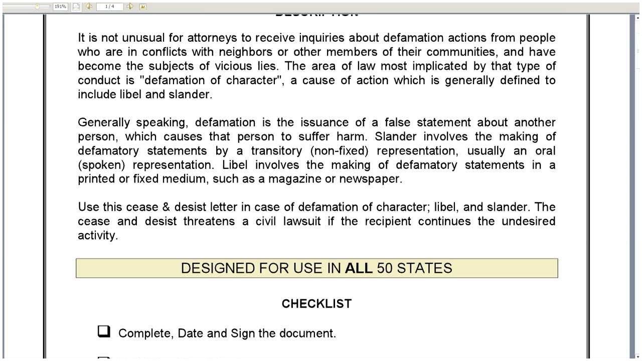 Cease and Desist Letter for Defamation Of Character Template - Defamation Character Cease & Desist Letter Cease and Desist