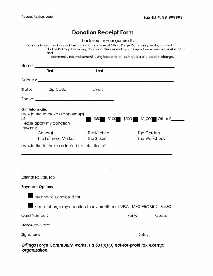 Donation Letter Template for Tax Purposes - Donation Receipt for Tax Purposes Acurnamedia