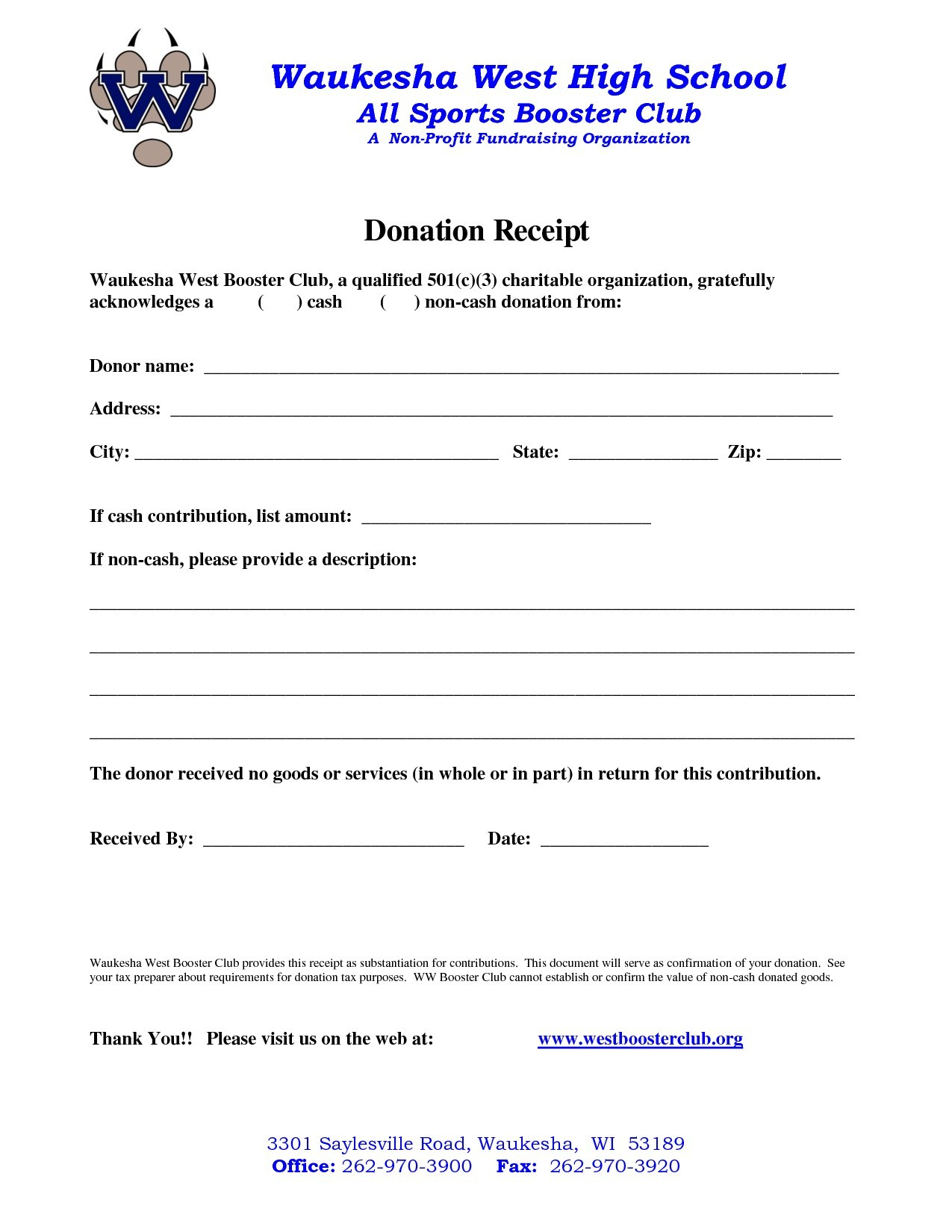 donation receipt letter template example-Awesome Non Profit Donation Receipt Template 7-t