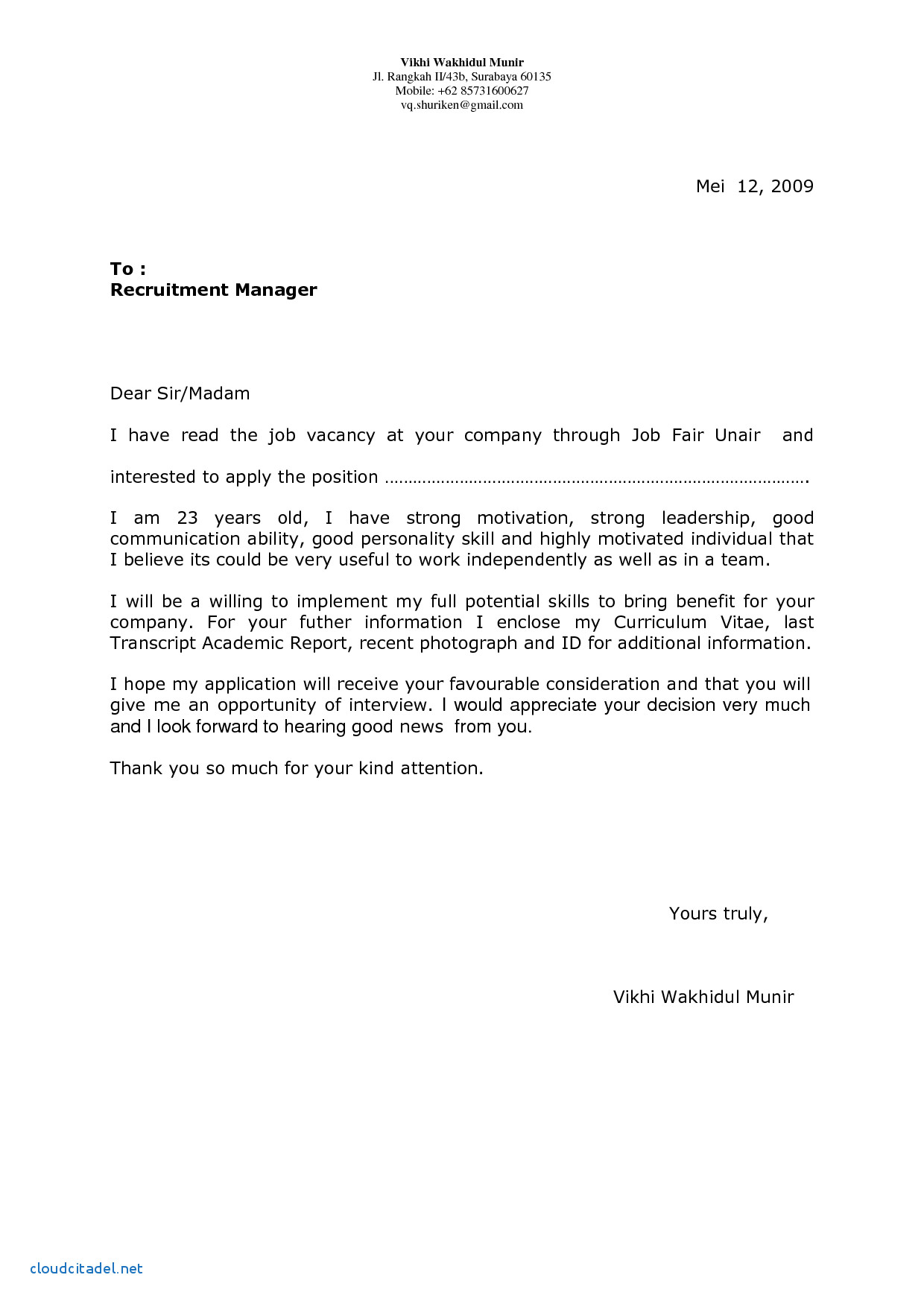 Free Letter Of Intent for A Job Template - Elegant Application Letter Sample for Teacher Position Openings
