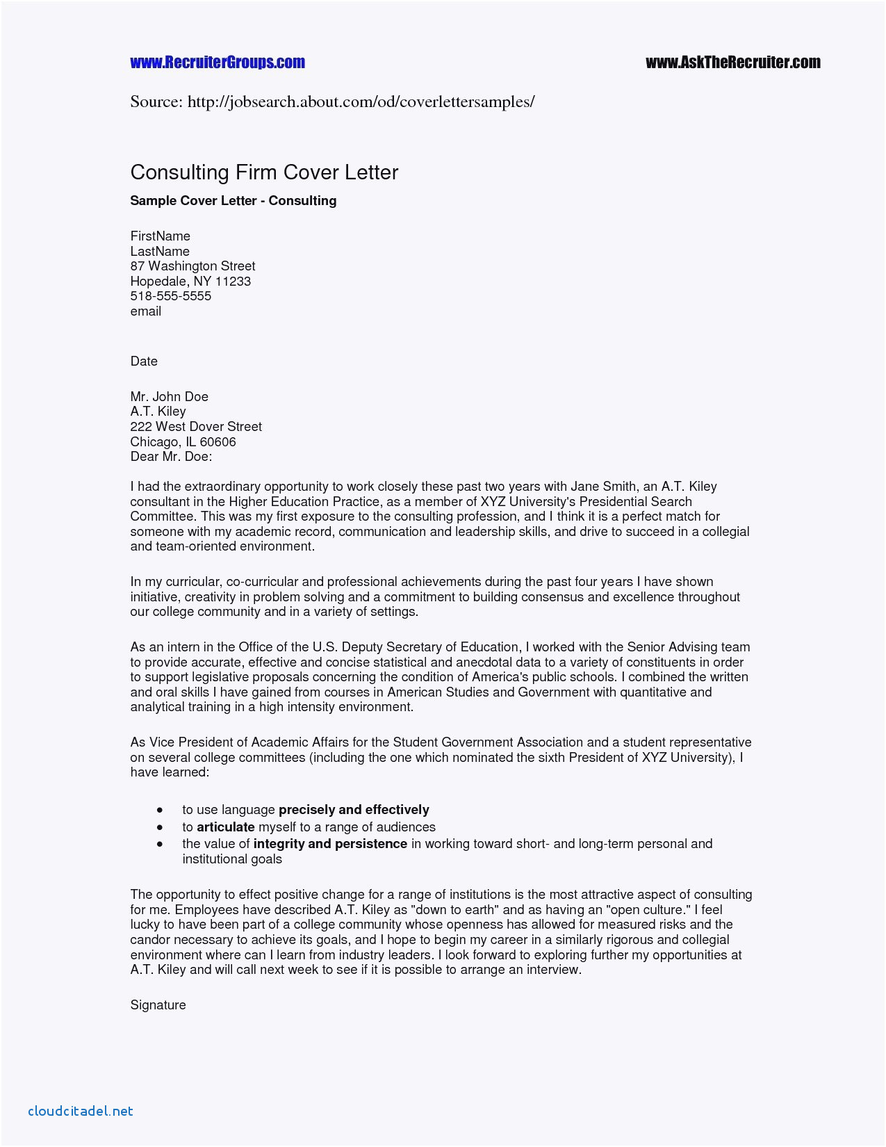 Cover Letter Template Doc - Elegant Letter Sample format Doc