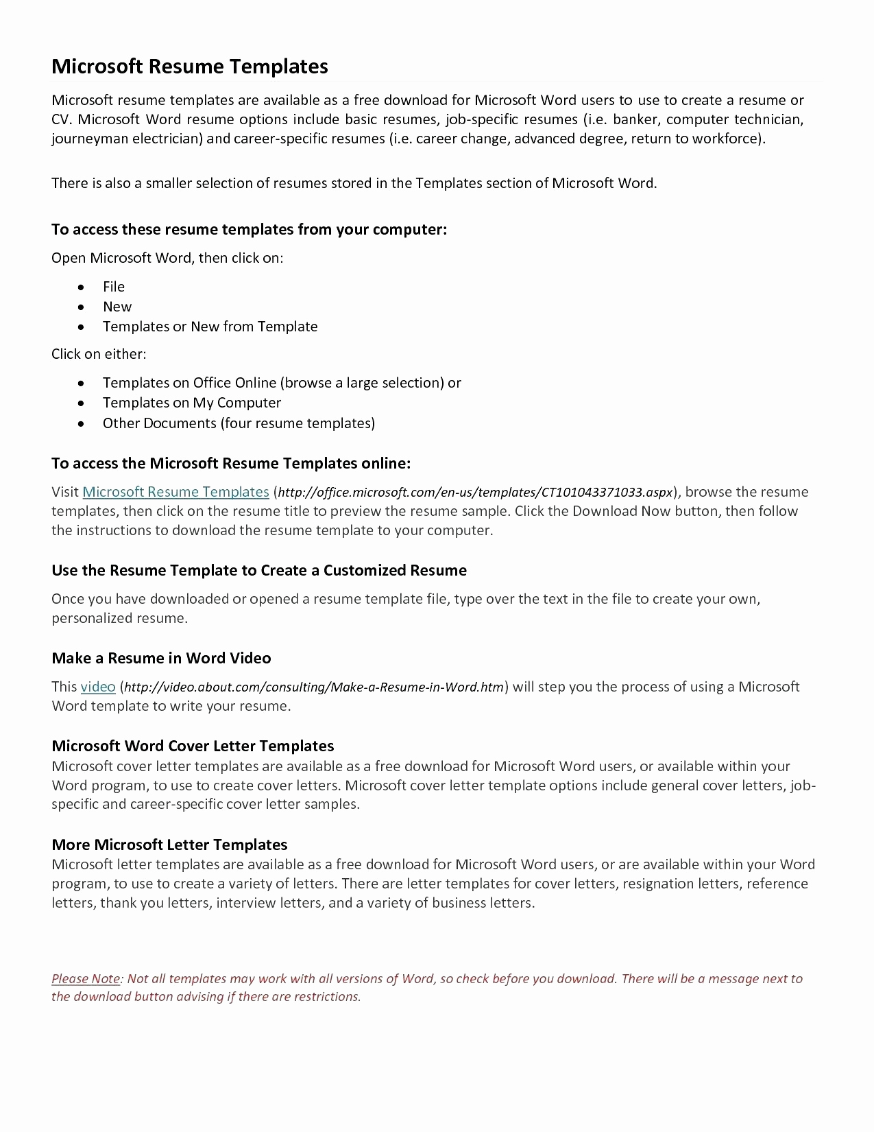 Cover Letter Template Doc Download - Elegant Resume Templates Word Ideas Resume Template Word