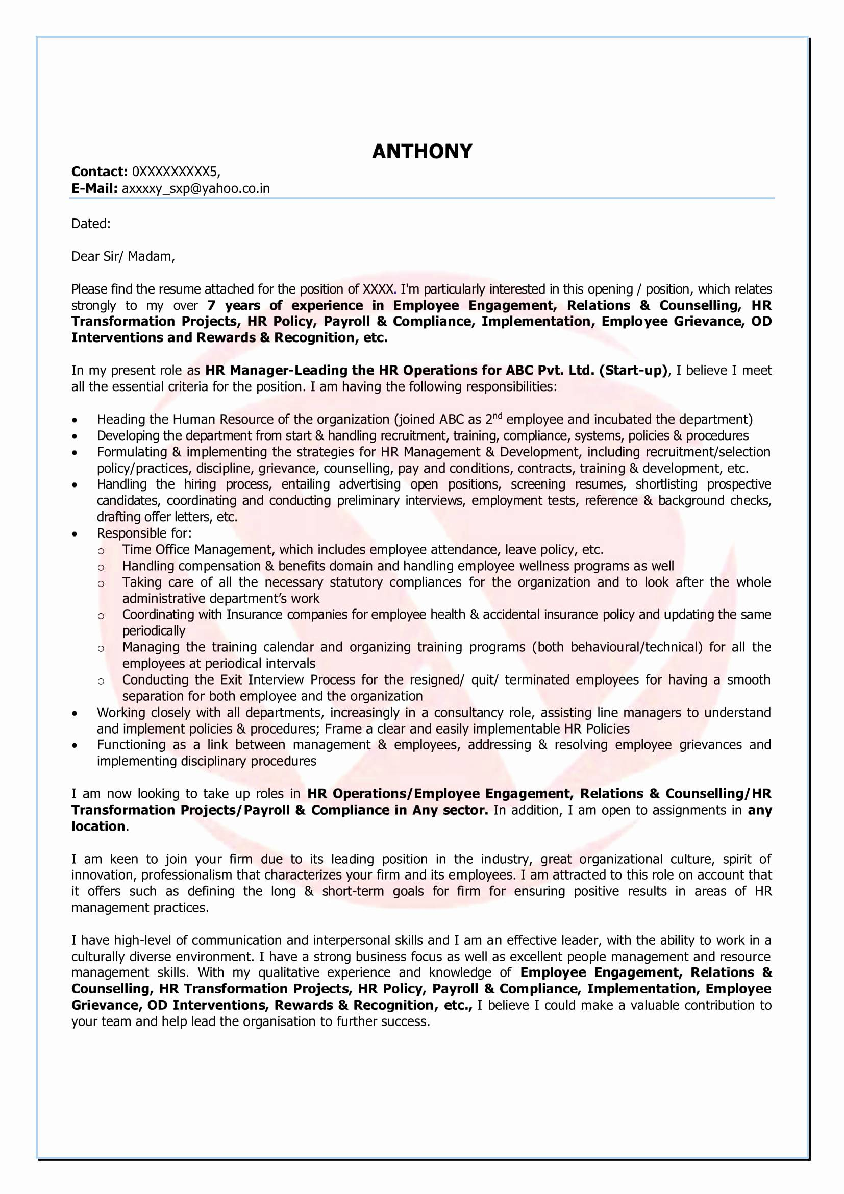 Startup Offer Letter Template - Employee Guidelines Template Unique Cover Letter Templates Word