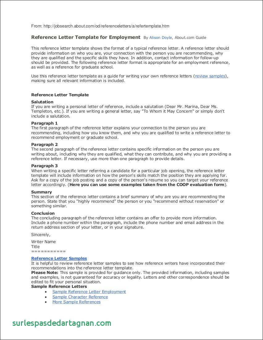 Character Reference Letter Template - Employee Reference Letter Template Happywinner Unique Personal