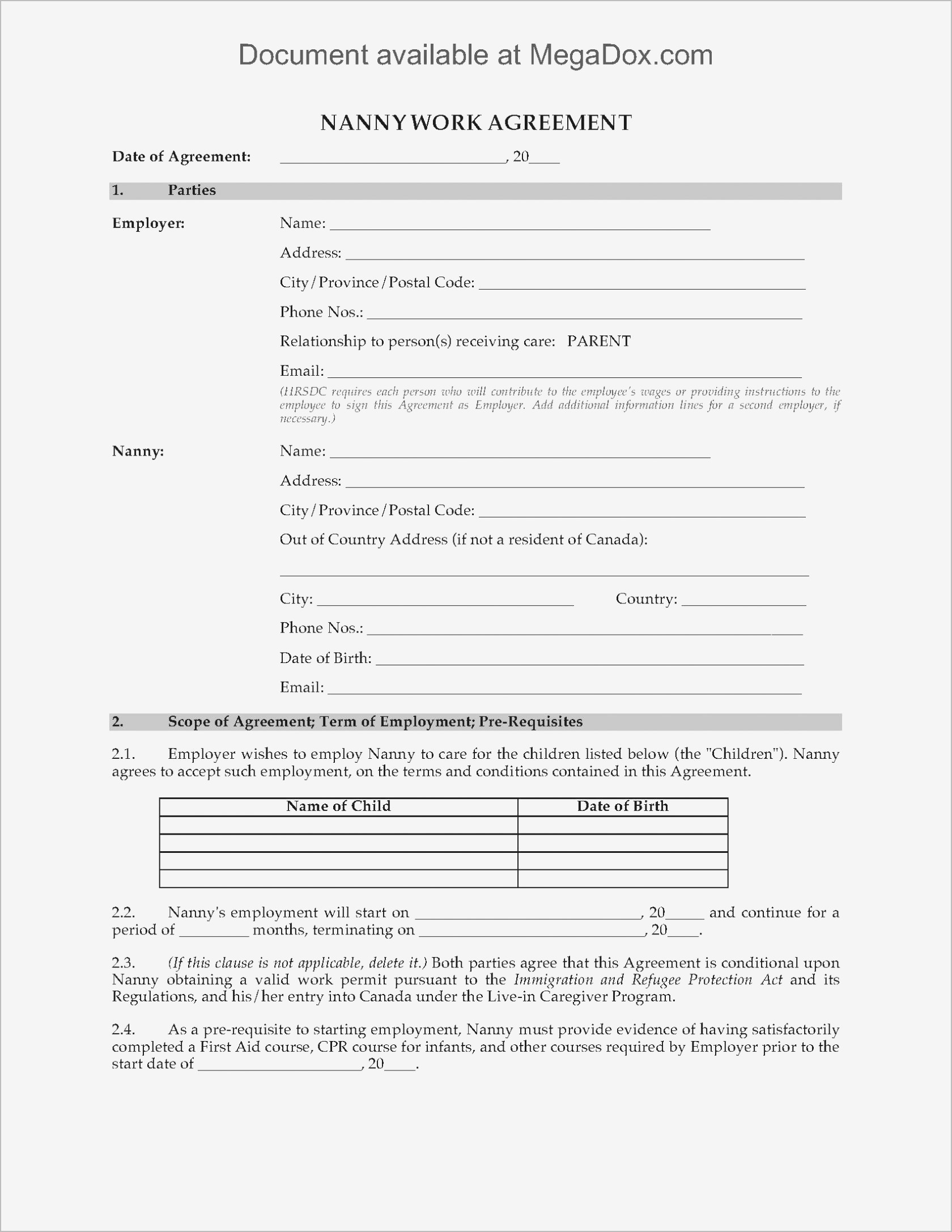 Conditional Offer Of Employment Letter Template - Employment Agreement Sample Pdf format
