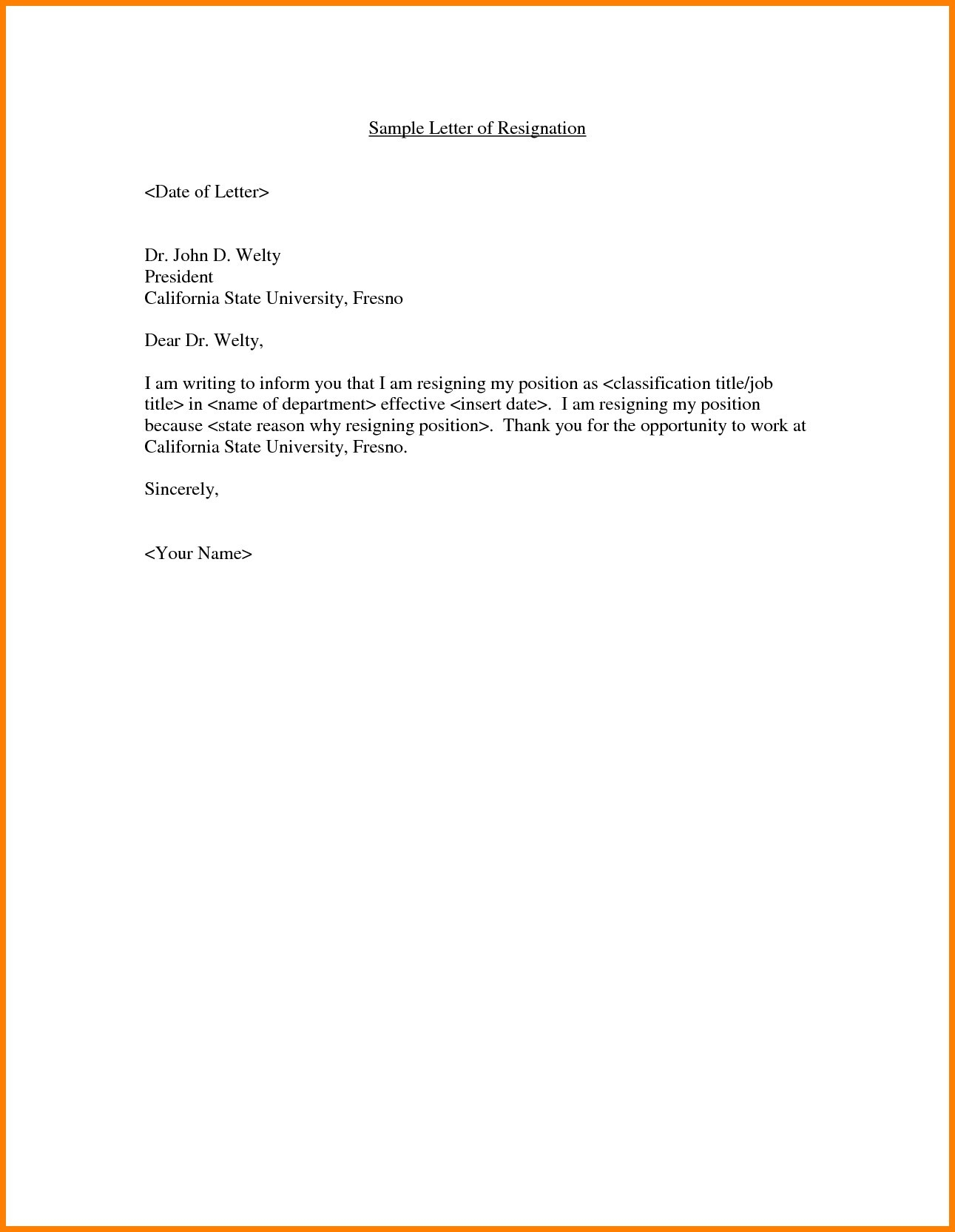 Job Offer Letter Template Doc - Employment Fer Letter Template Doc Copy Resignation Letter Sample