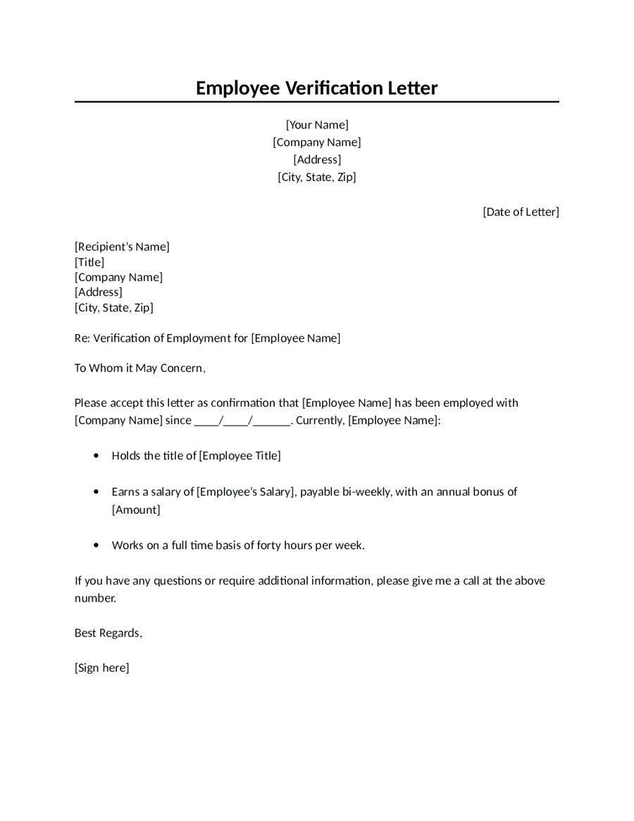 Proof Of Employment Letter Template Word - Employment Verification form Template Word New Employment