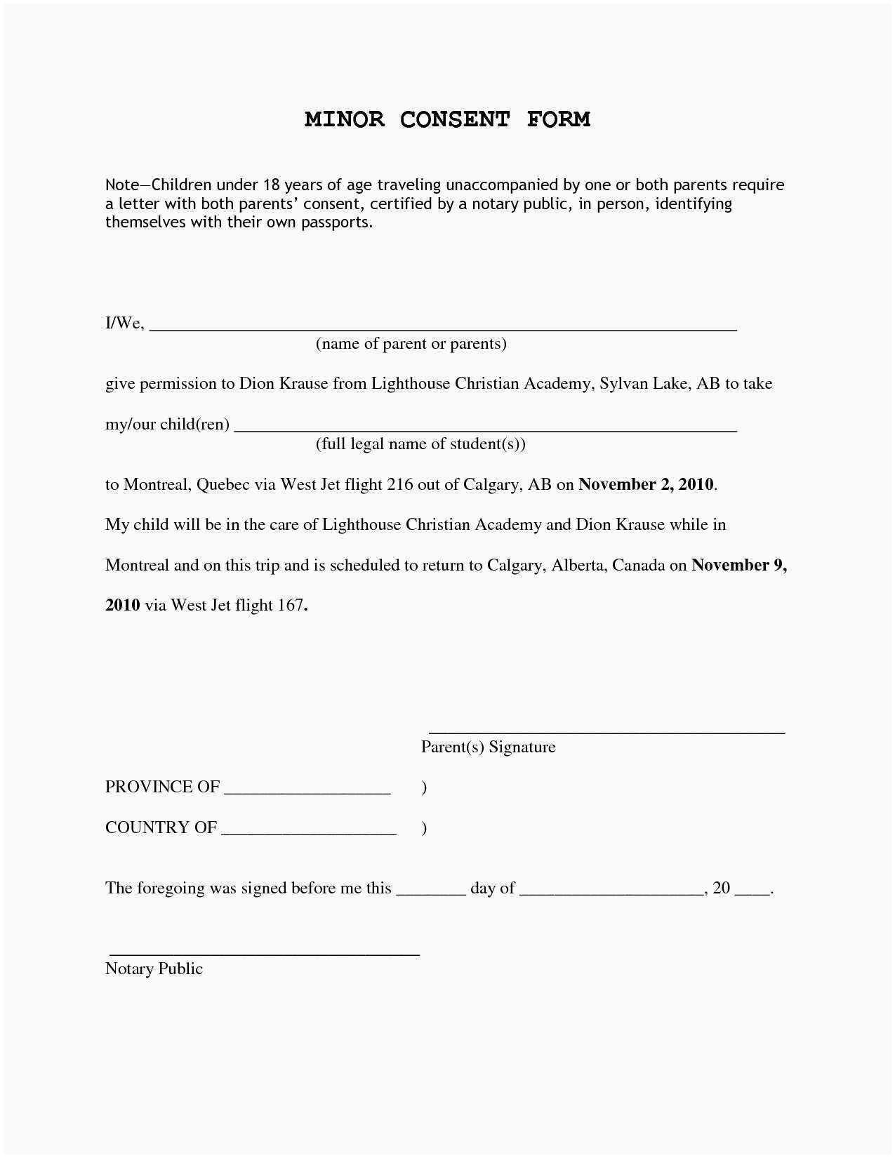 Child Travel Consent Letter Template - Example Of Permission Letter for Industrial Visit as Its Name Says