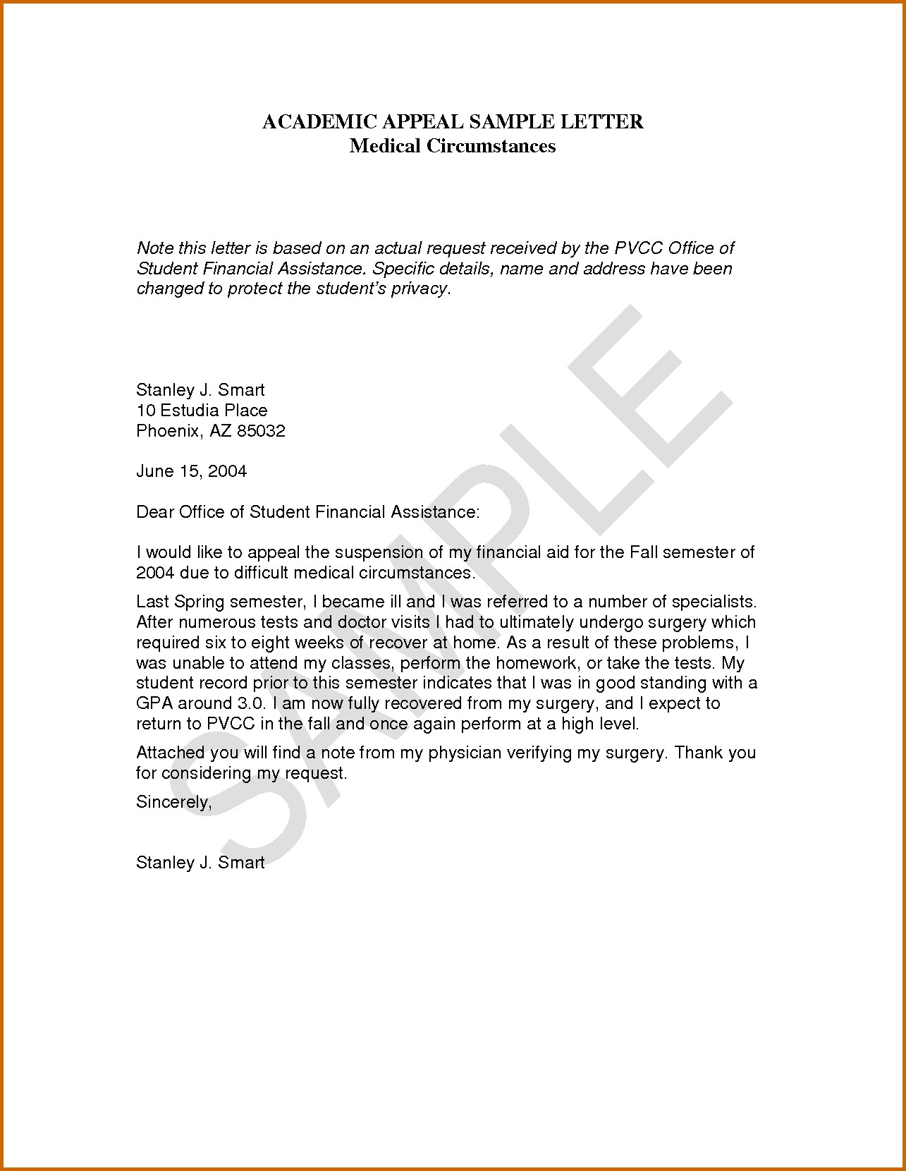 academic dismissal appeal letter example. how to write an appeal