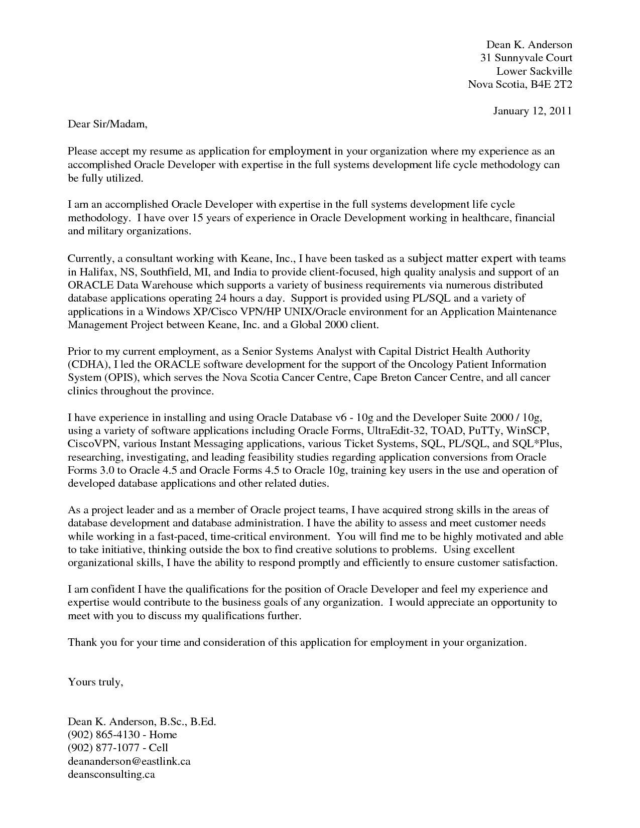 Cover Letter Template Healthcare Examples