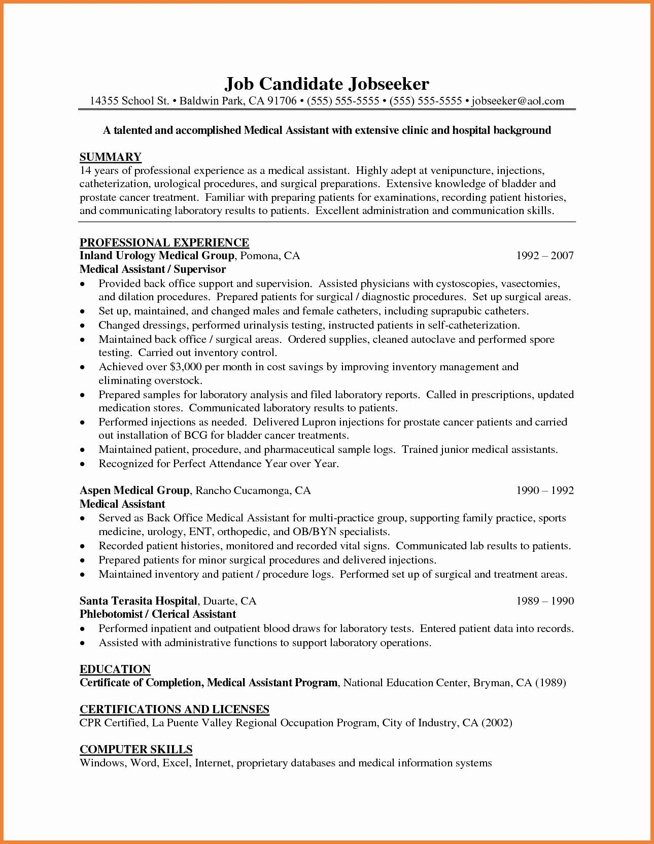 medical scribe cover letter template example-Examples Cover Letters for Medical assistant Luxury Medical Scribe Cover Letter 8-s