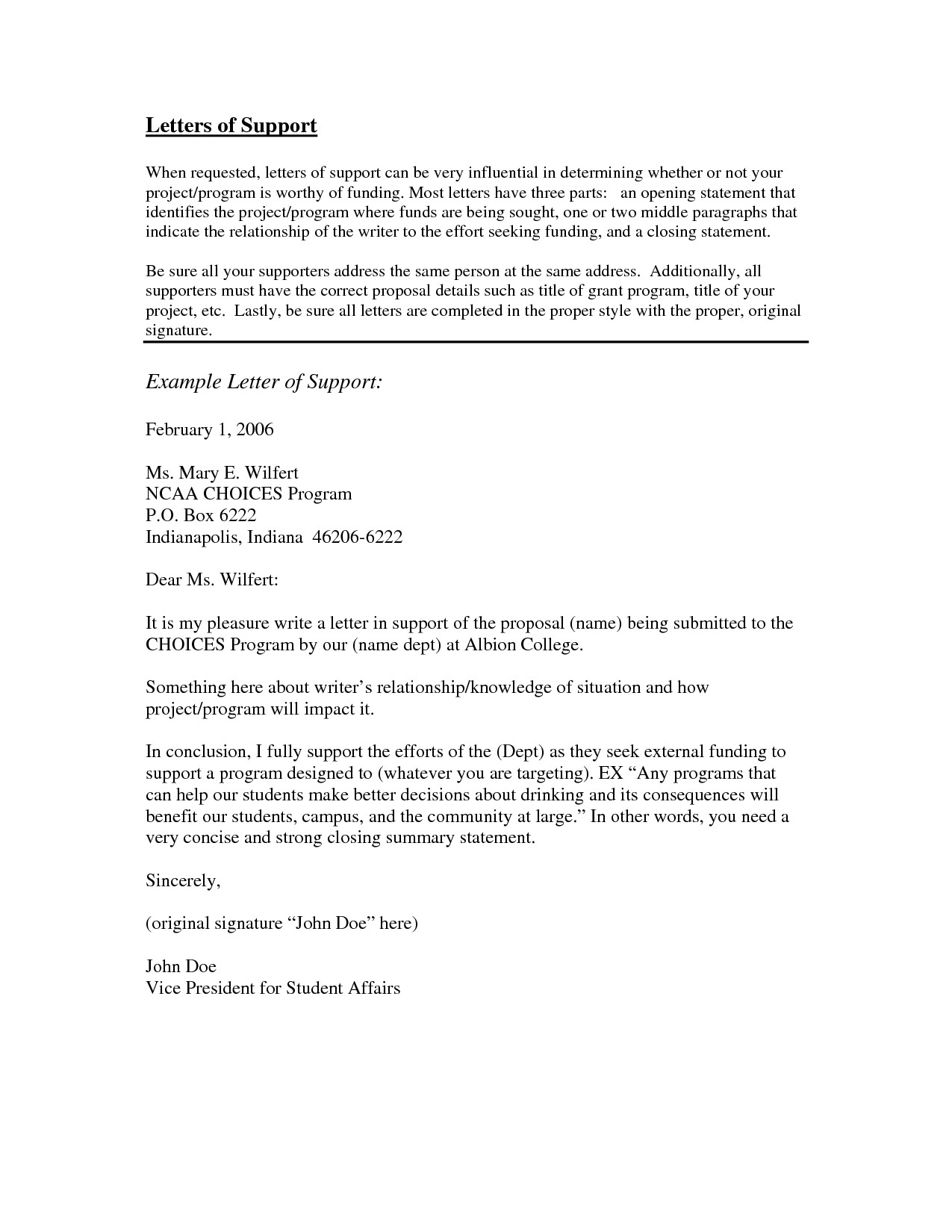 letter of support template for a person Collection-examples of letters of support letter support template of examples of letters of support 18-t