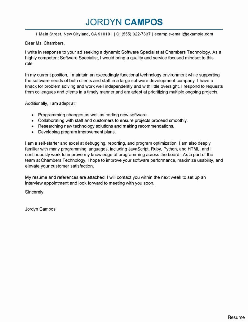 Customer Service Cover Letter Template Examples Letter Templates