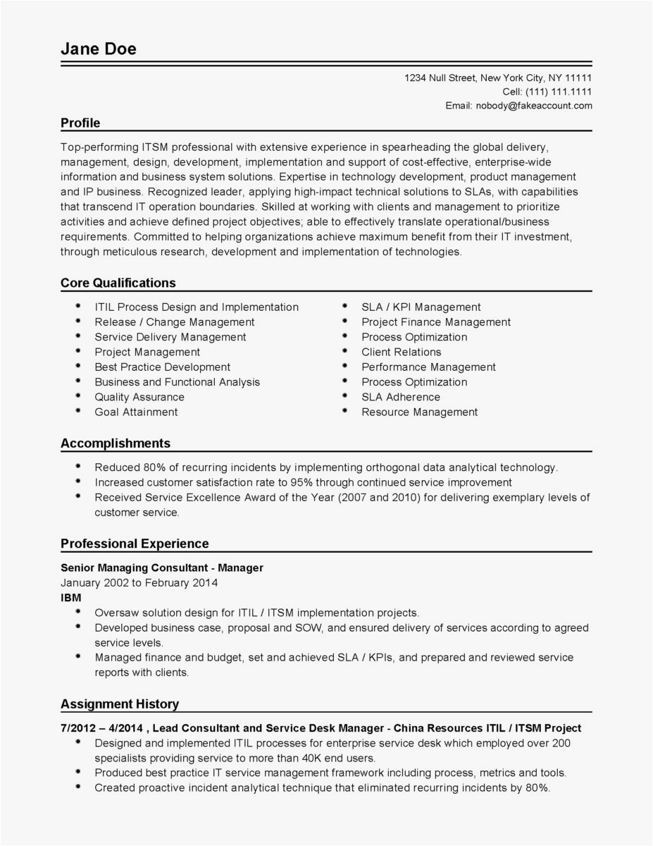 Free form Letter Template - Excellent Resume Examples New Hr Resume Examples Unique Od