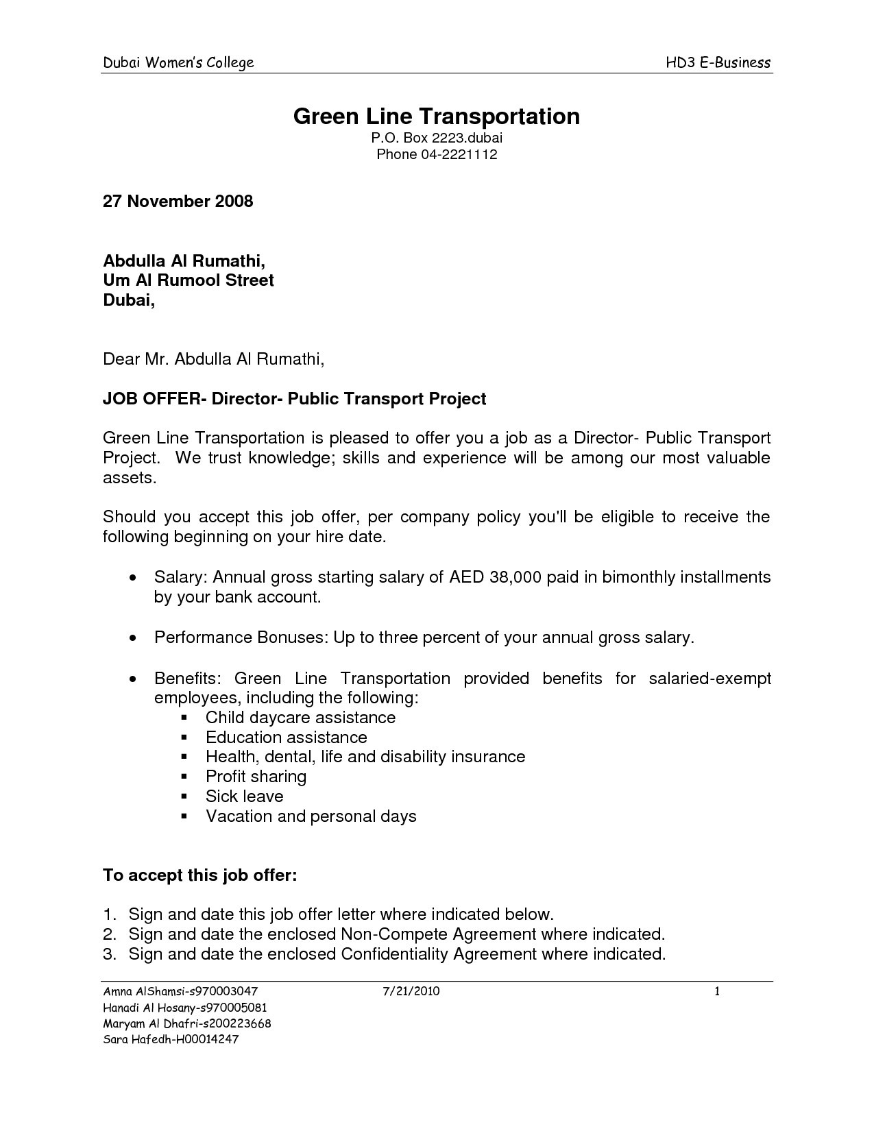 Exempt Offer Letter Template - Executive Job Fer Letter Sample Valid Job Fer Letter Template Us