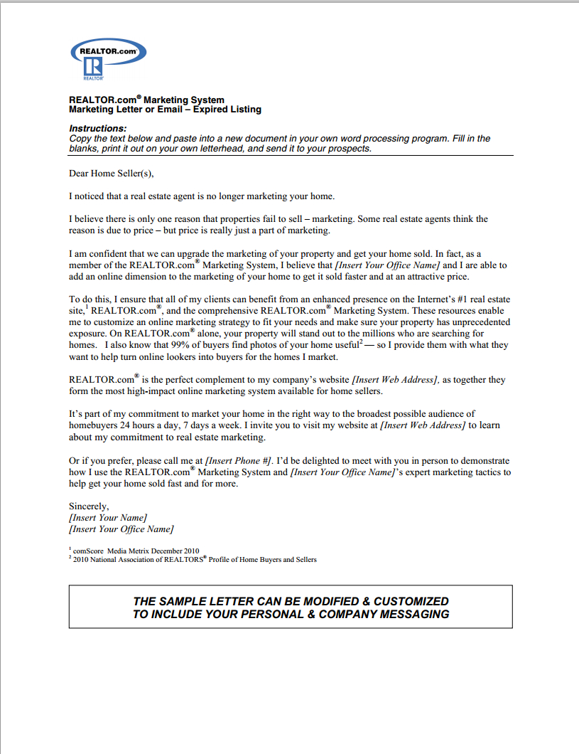 free expired listing letter template Collection-expired listing letter 5-s
