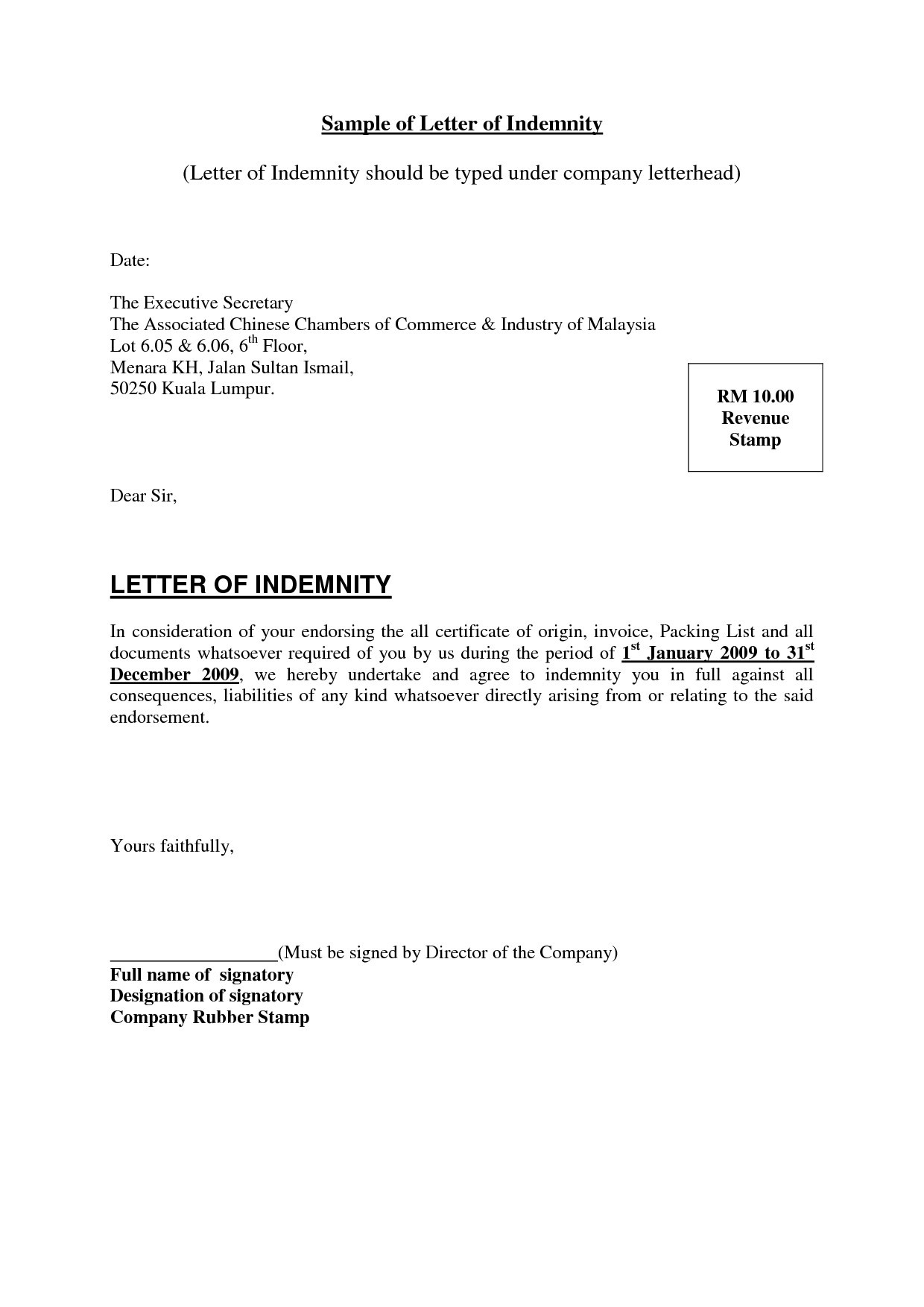 letter of indemnification template Collection-Undertaking Letter Format Construction New Indemnification Letter 18-c