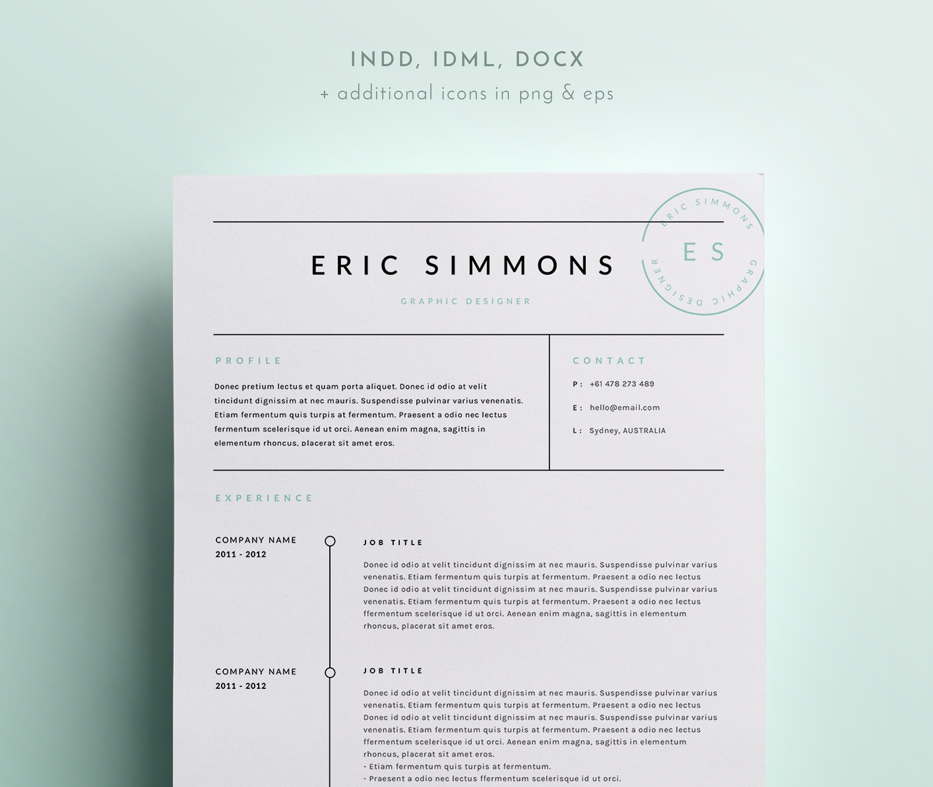 Indesign Cover Letter Template - Fascinating Indesign Resume Template Horsh Beirut Resume Templates