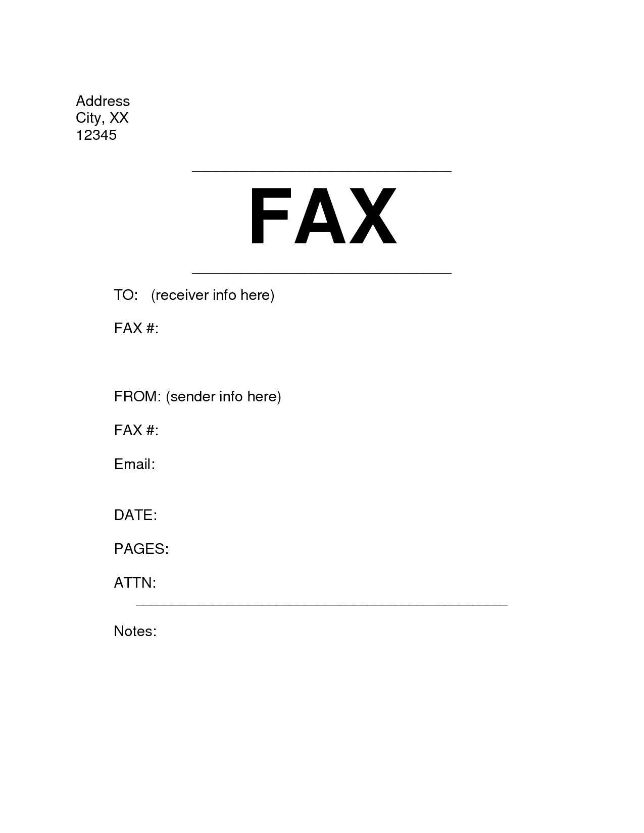 Microsoft Word Fax Cover Letter Template