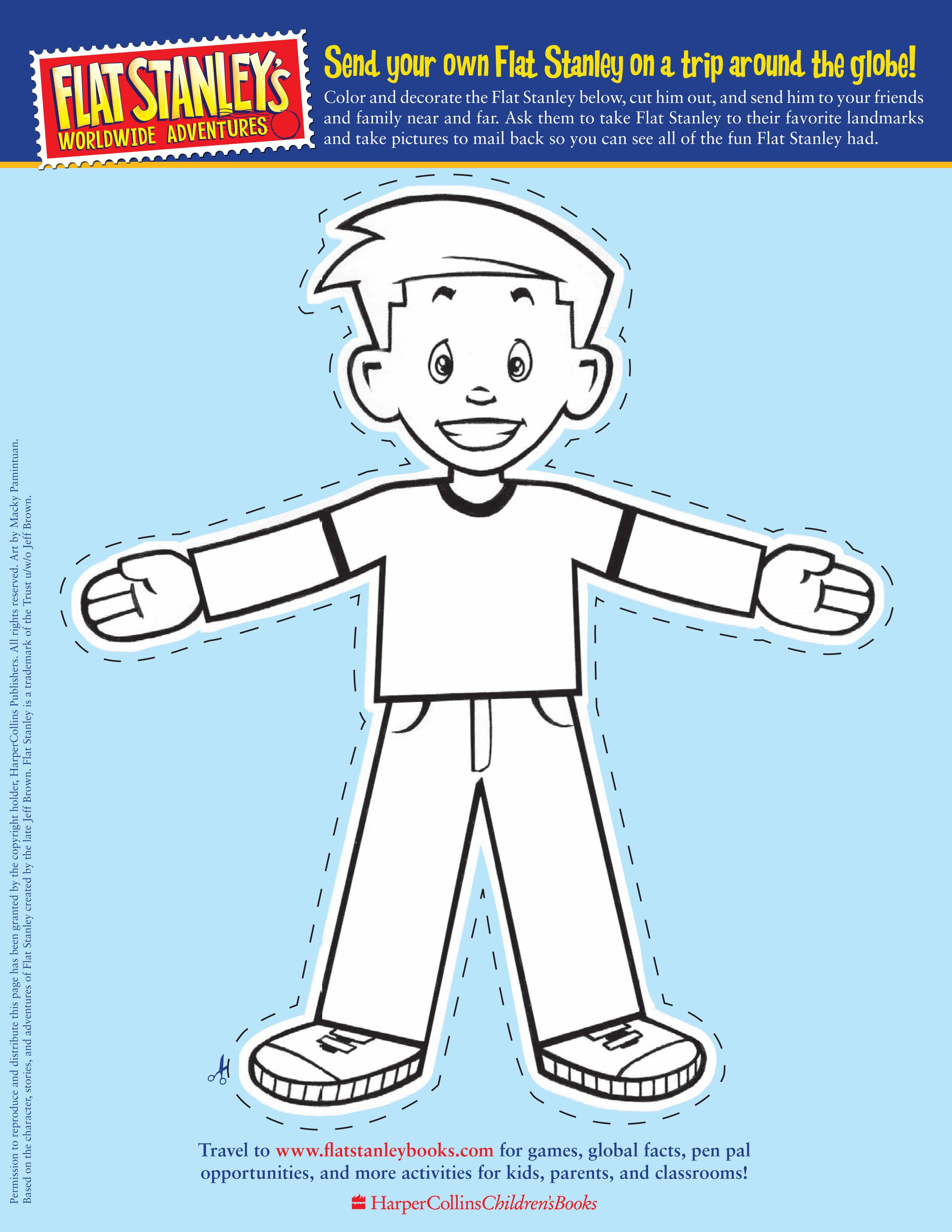 Flat Stanley Letter Template - Flat Stanley Printable Acurnamedia