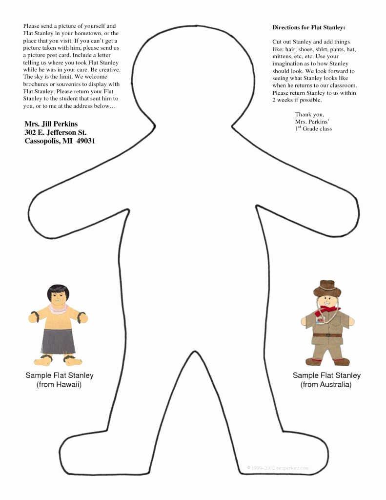 Flat Stanley Letter Template - Flat Stanley Template to Print Luxury Junehwbody Evowriters