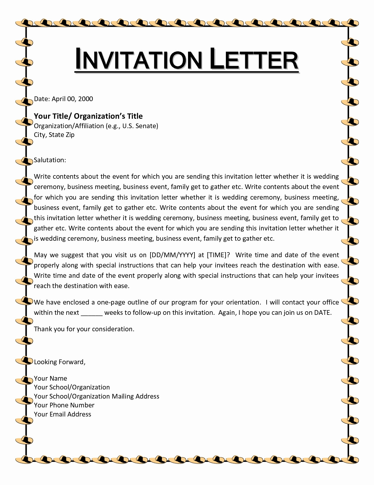 Christmas Party Letter Template - Football Invitation Template Awesome Invitation Letter Christmas
