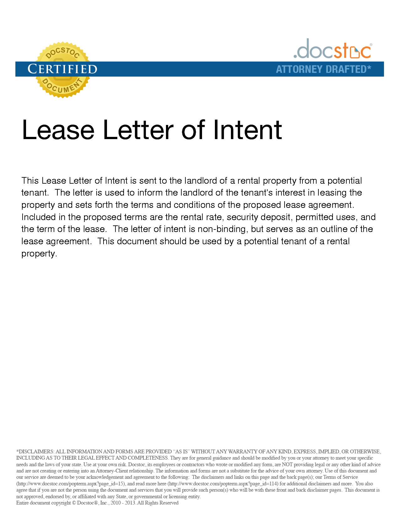 Letter Of Intent to Rent Template - form Of Letter Of Intent Acurnamedia