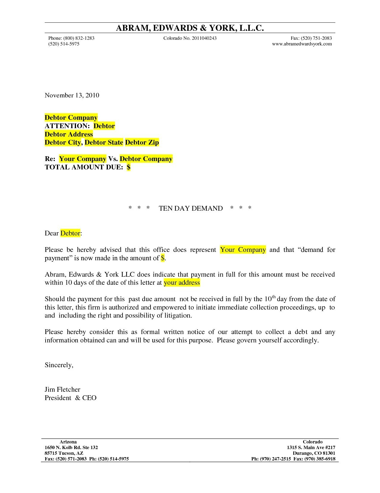 Lien Demand Letter Template - formal Letter format Legal Best Lawyer Demand Letter Sample formal