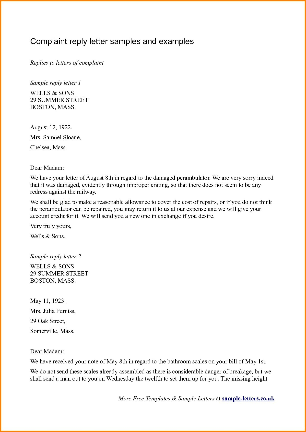 Reply To Patient Complaint Letter Template Examples Letter Templates