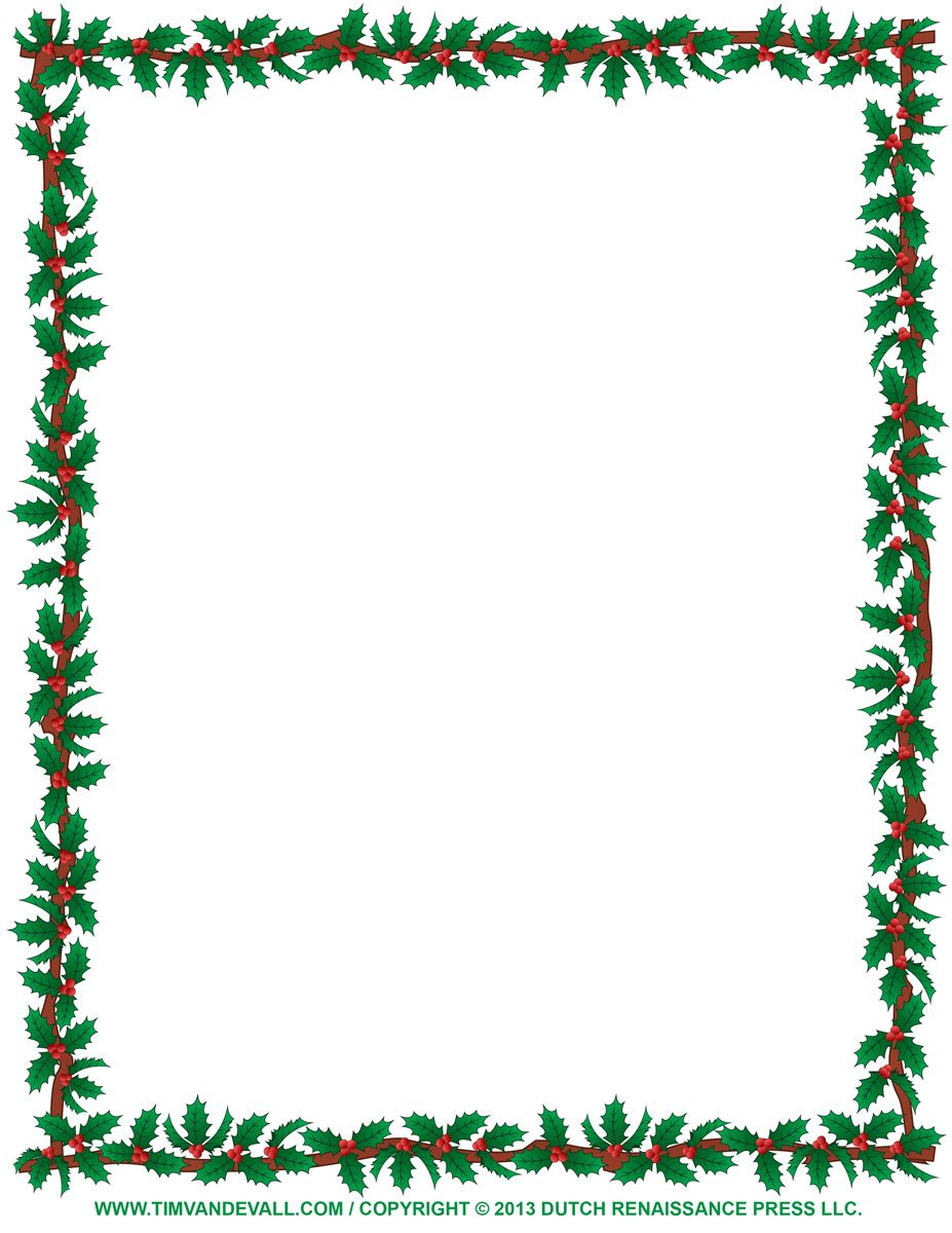 Christmas Letter Border Template - Free Christmas Borders to Print