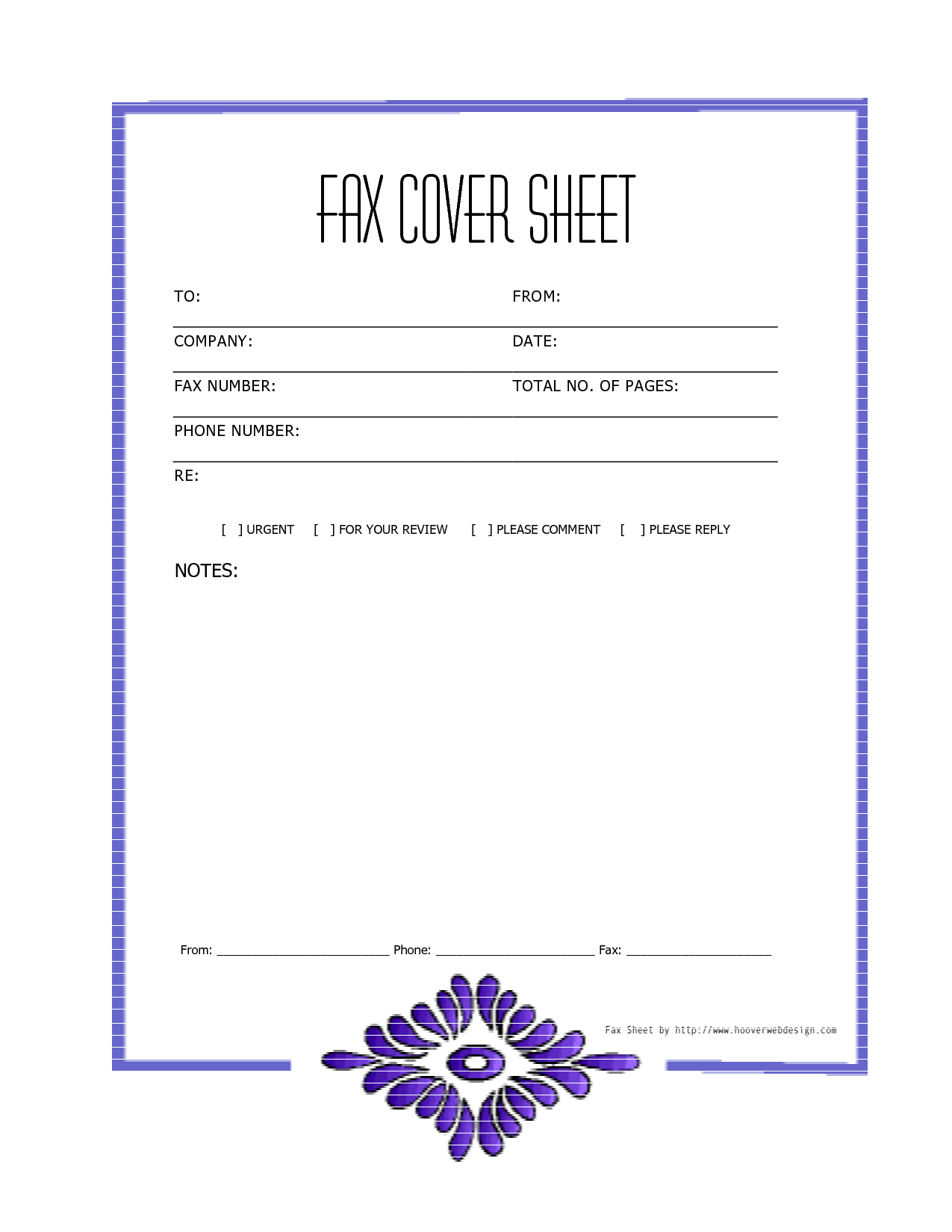 Free Printable Fax Cover Letter Template - Free Downloads Fax Covers Sheets