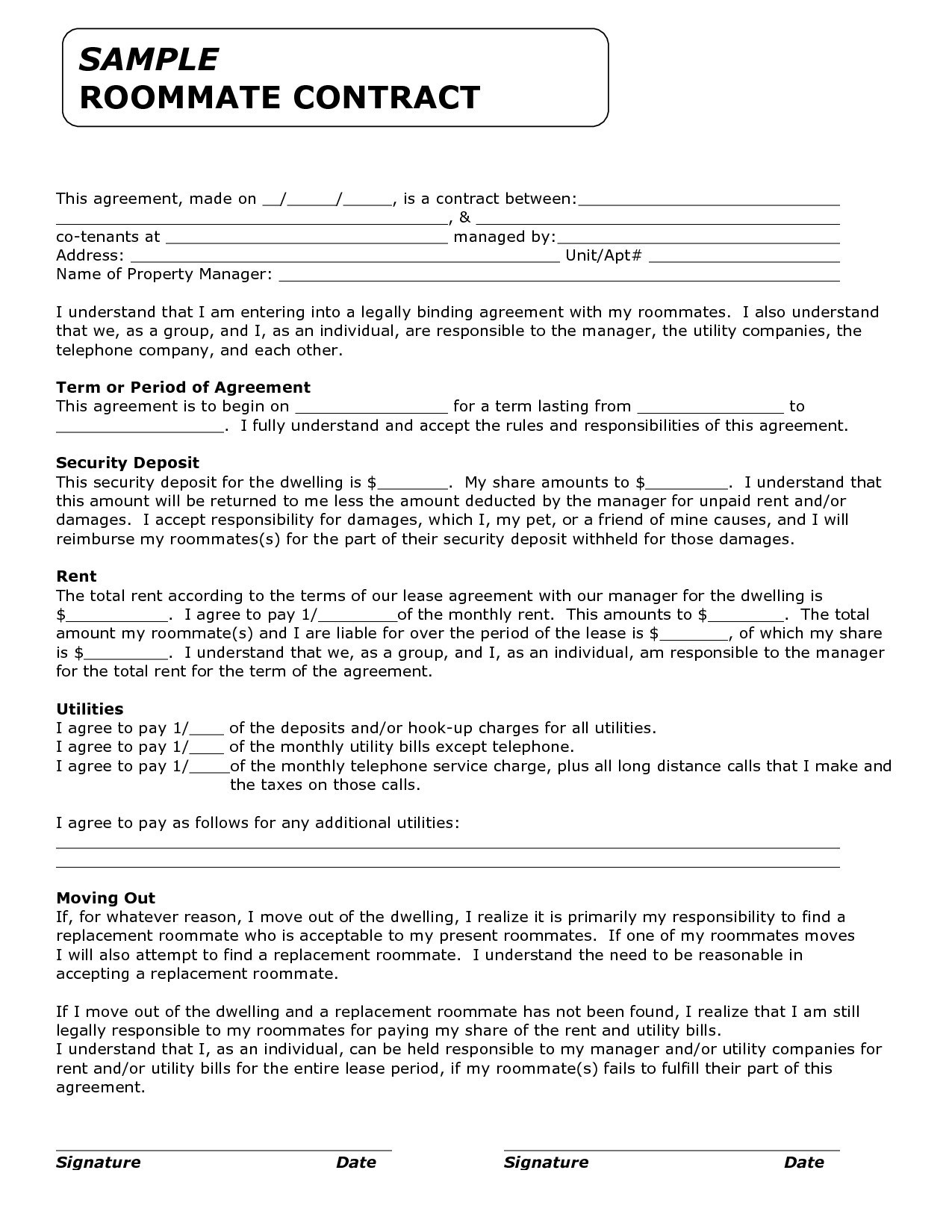 Rental Agreement Letter Template - Free Lease Agreement Template Best Property Lease Contract Best
